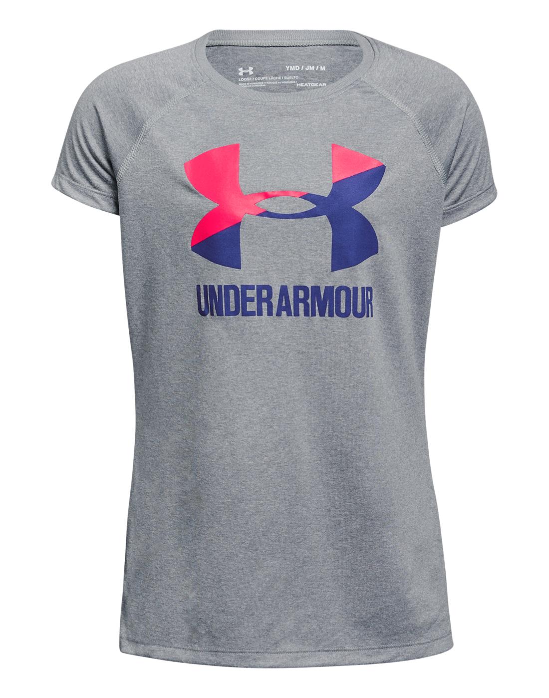 Under Armour Older Girls Big Logo T-Shirt  89ea65a3e925e
