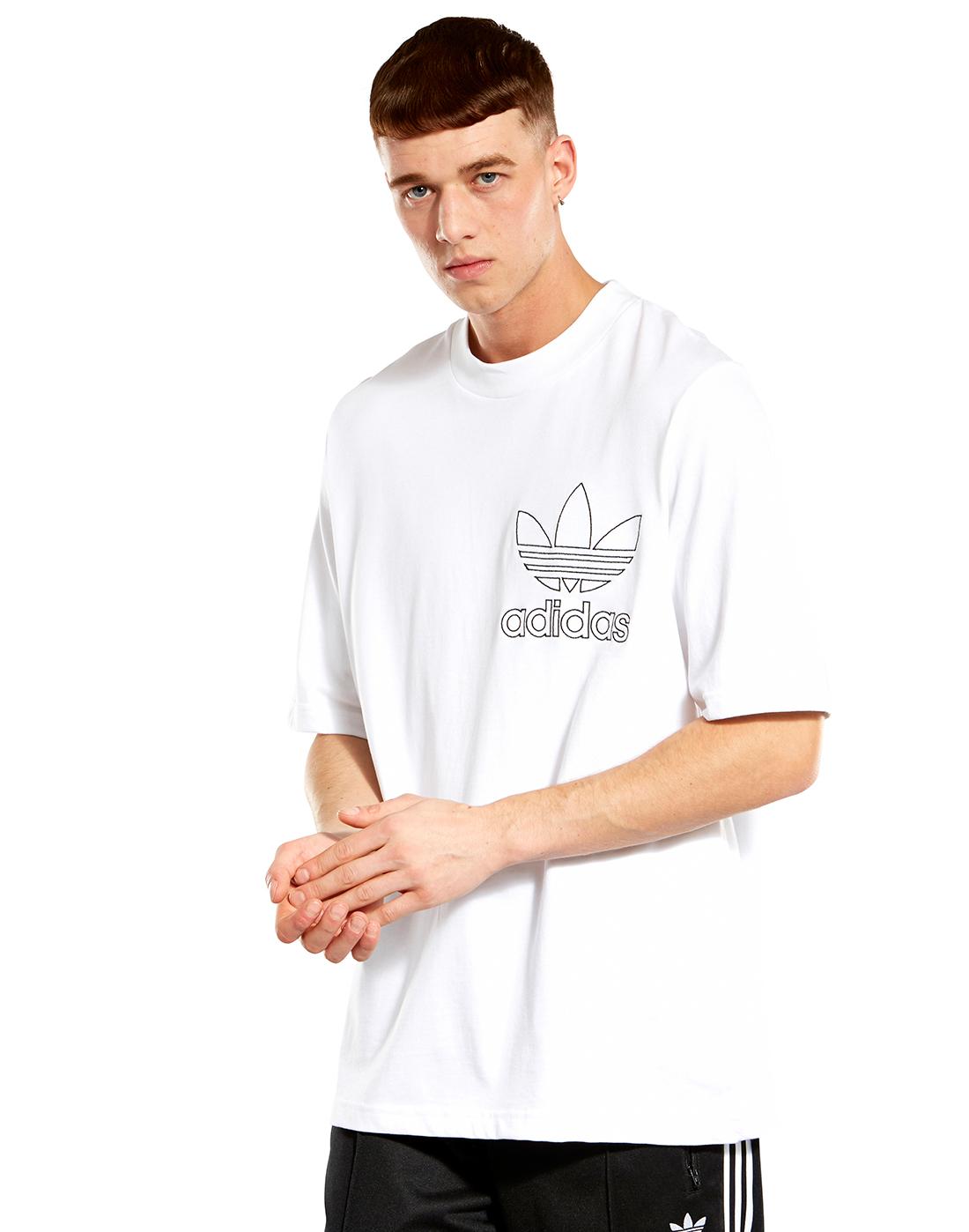 adidas originals tshirt outline