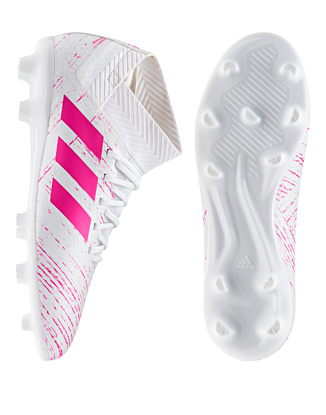 e50b1c2be8b9 Kid's White & Pink adidas Nemeziz 18.3 Virtuso | Life Style Sports