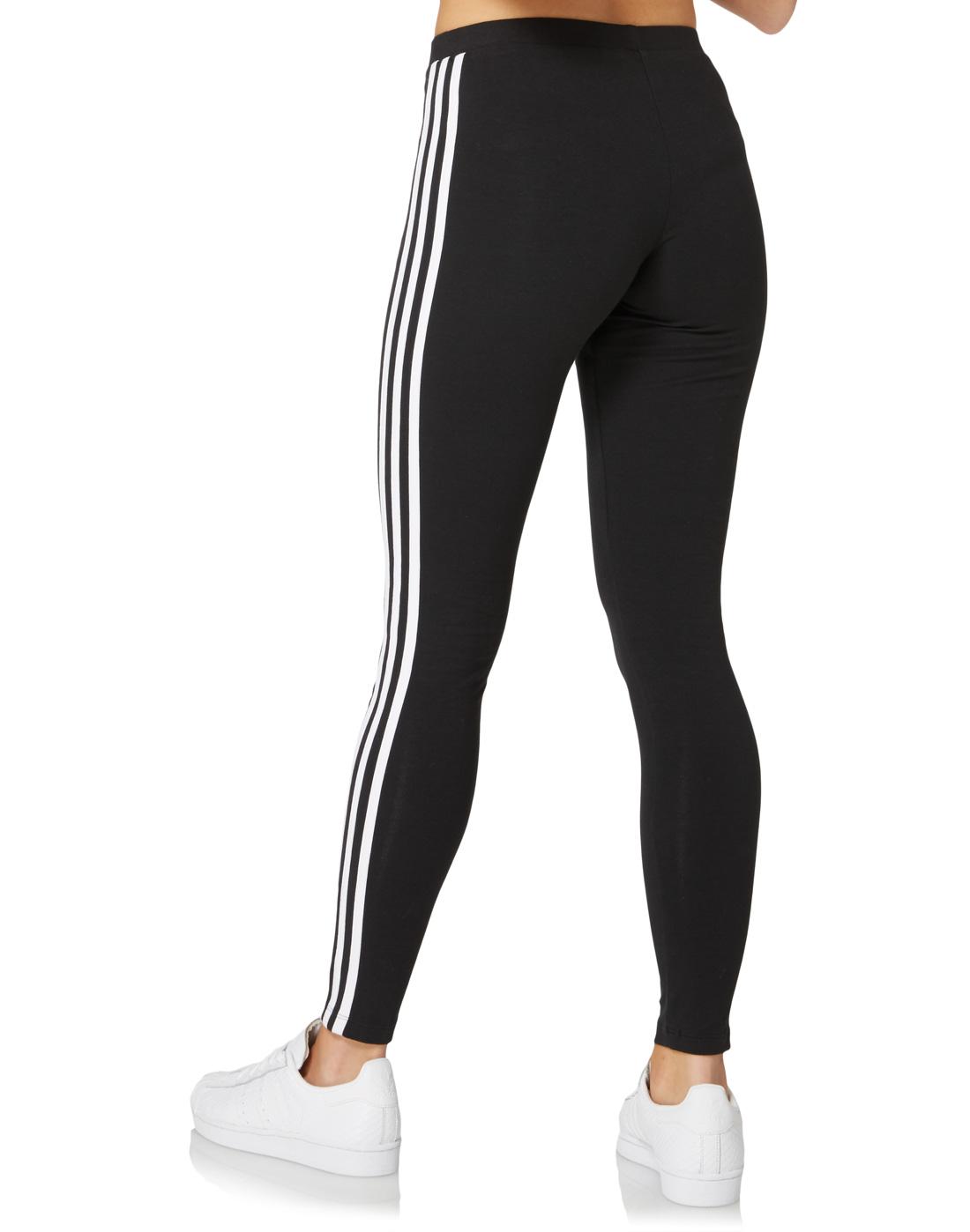 7342b2e80f022 adidas Originals Womens 3 Stripe Legging   Life Style Sports