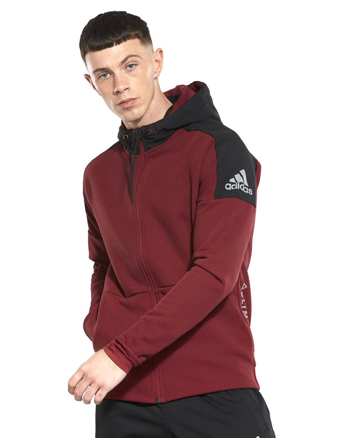 1c63ac27d060 Men s Red adidas Climaheat Full Zip Hoodie