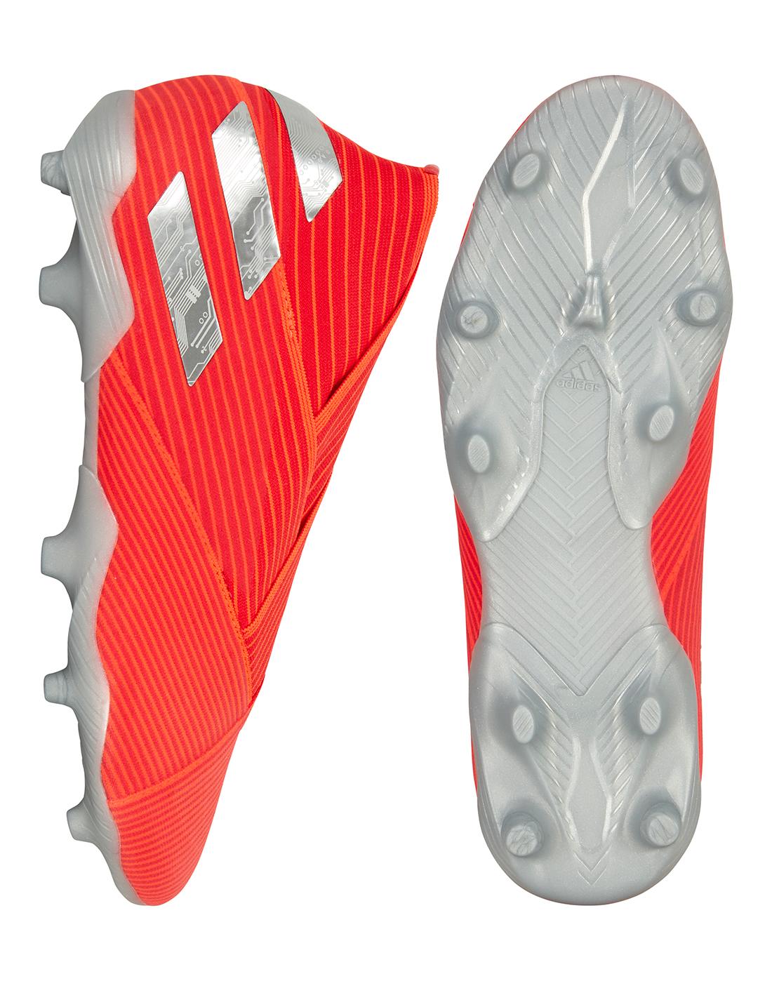8aa5b75e0 adidas girls nemeziz 17.3 fg j real coral red zest core black; kids nemeziz  19 fg re direct
