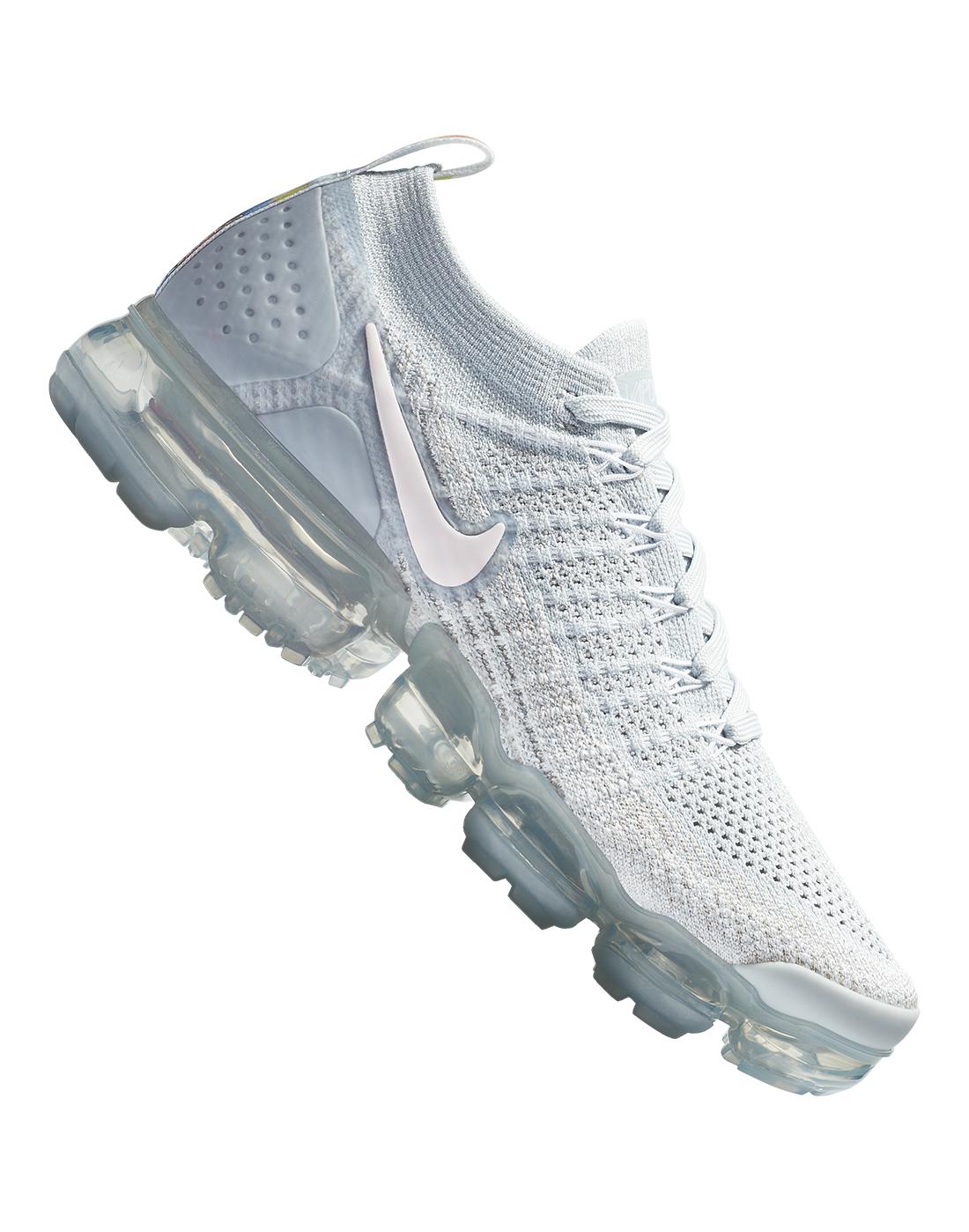 7e340aac1a00 Women s Grey   Pink Nike VaporMax Flyknit