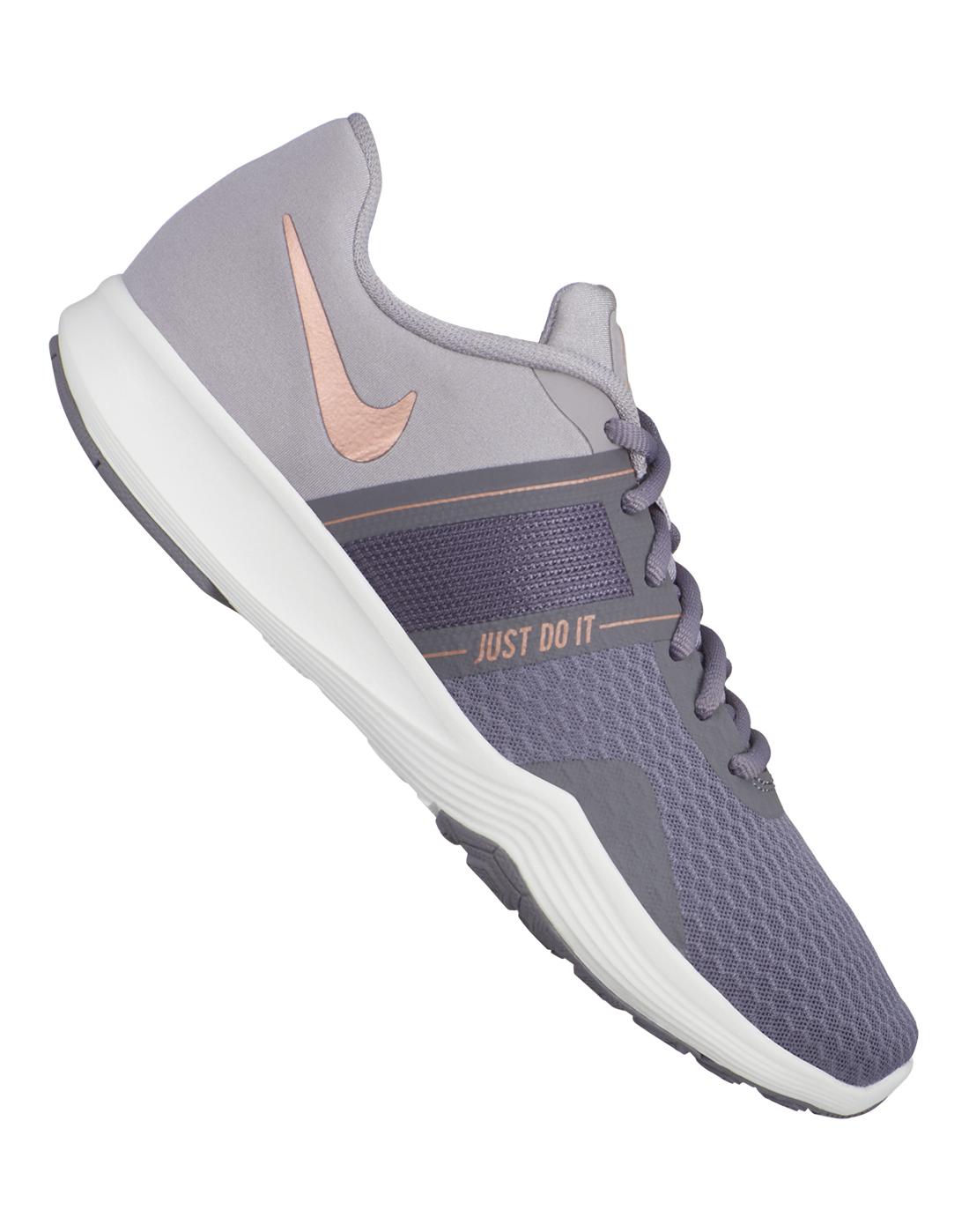 e6b306a570fef Women's Grey & Purple Nike City Trainer 2 | Life Style Sports