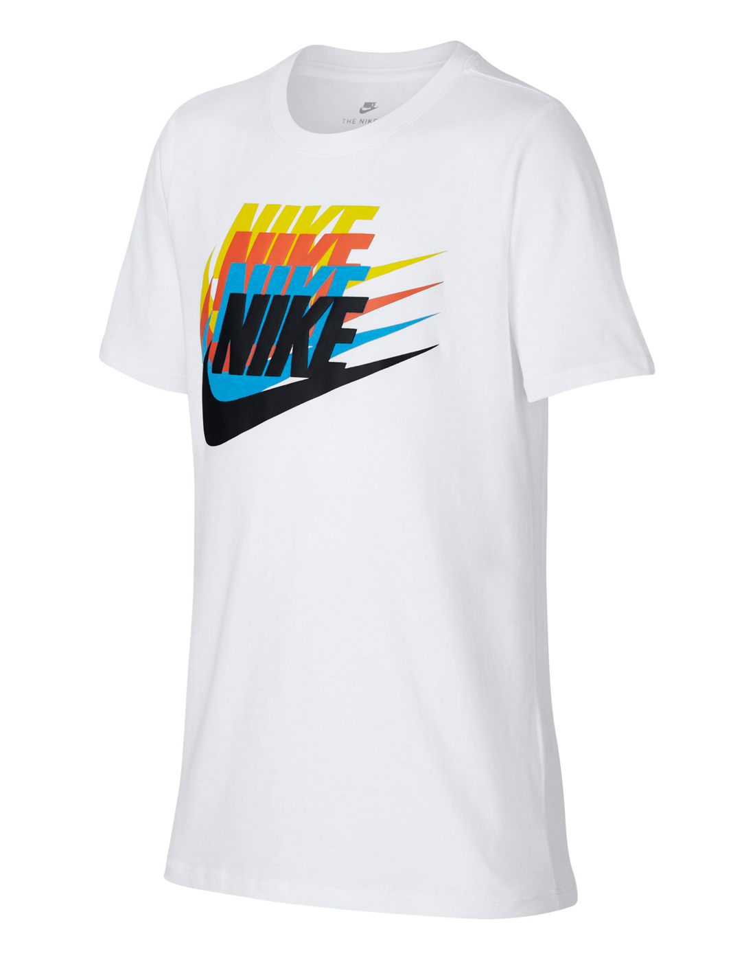 fa187647a Nike Older Boys Sunset Futura T-Shirt | White | Life Style Sports