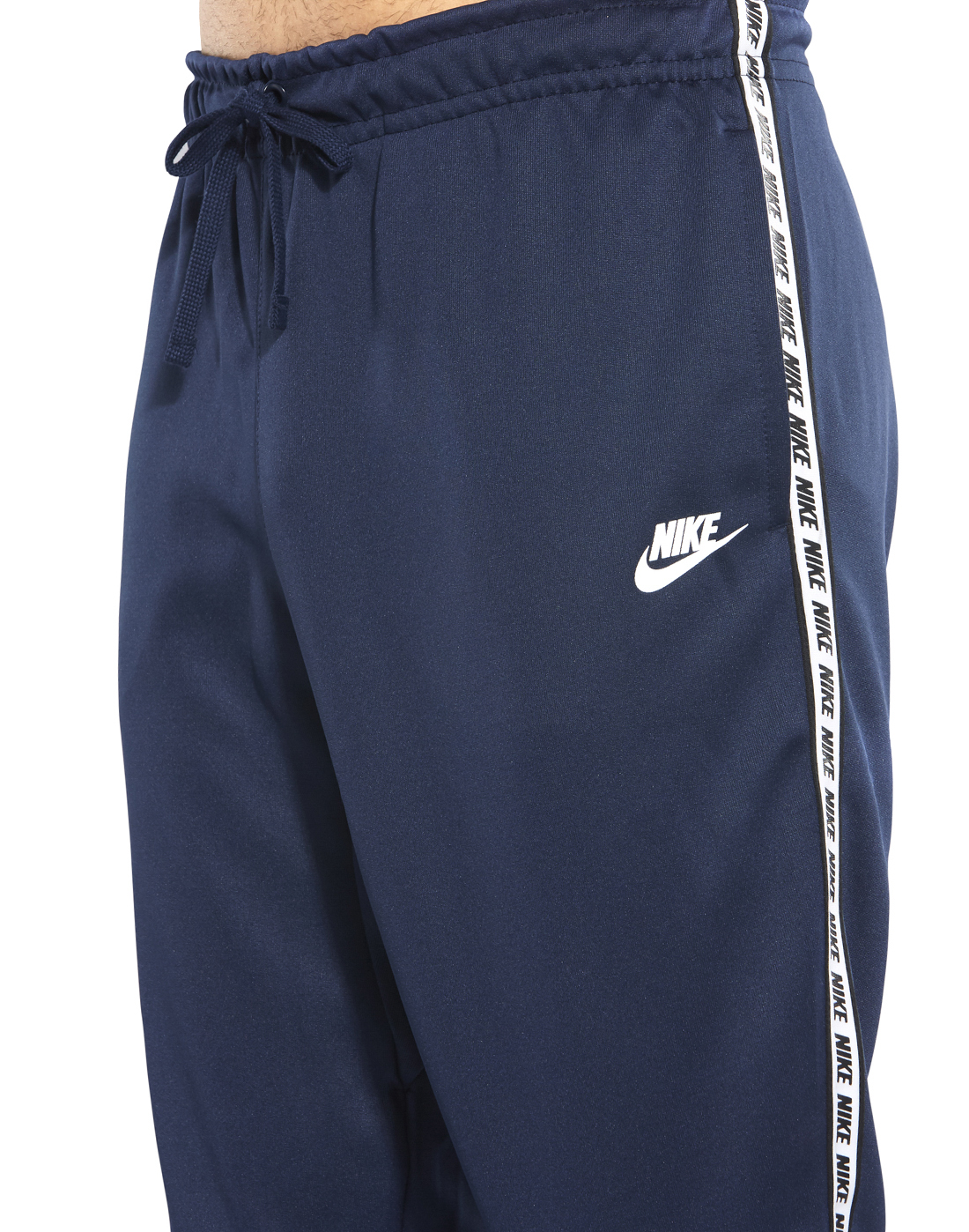 318fffeee Men s Navy Nike Logo Tape Track Pants