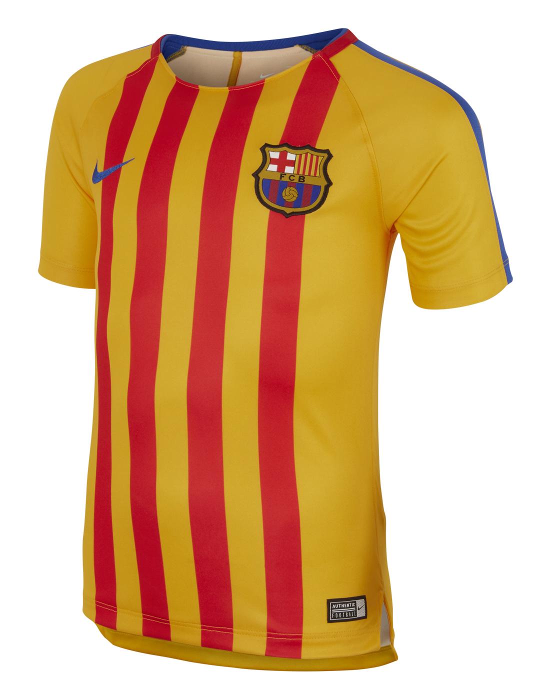 hot sale online ef7ae 77fbd barcelona yellow jersey