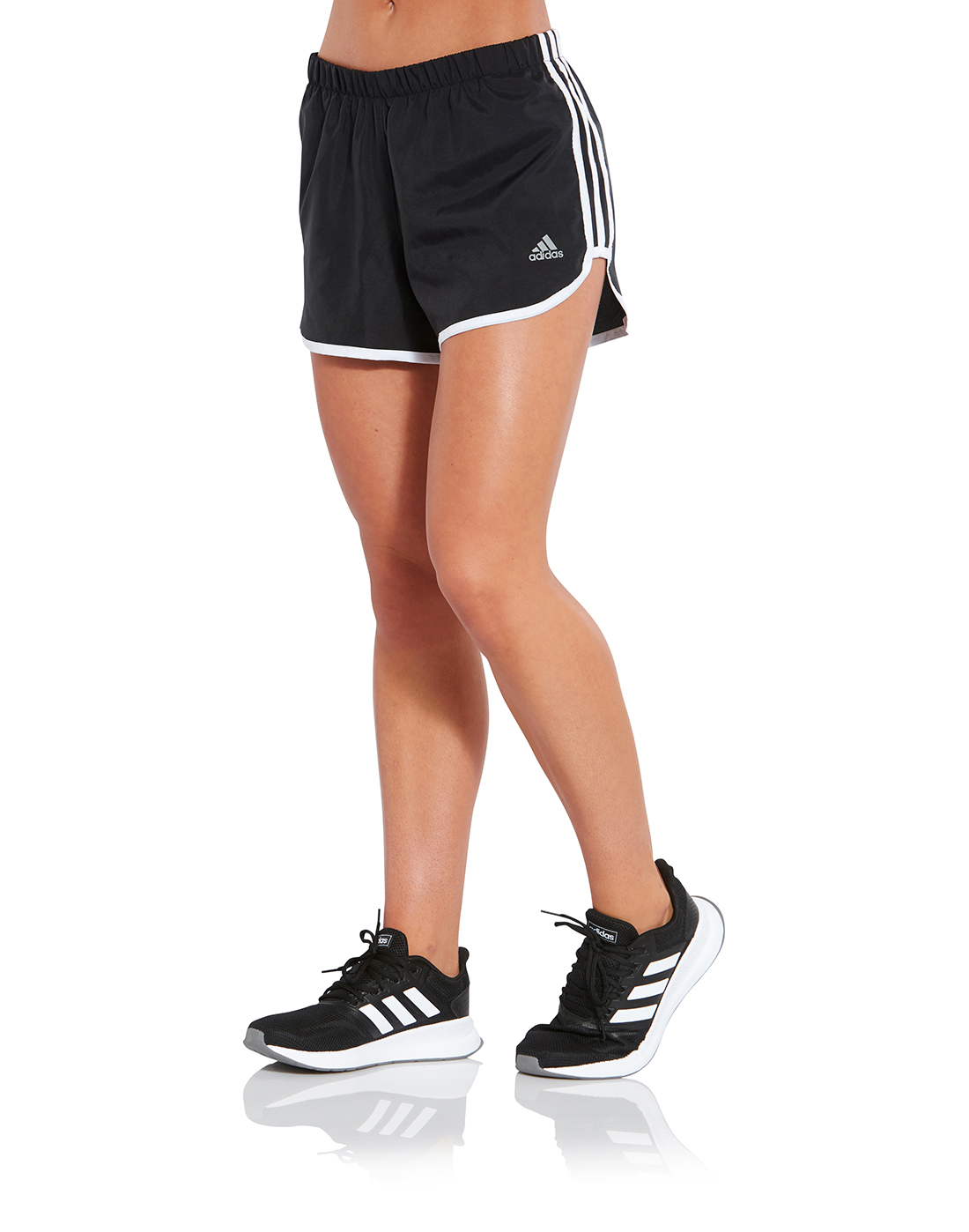 Women's Black adidas Marathon Shorts