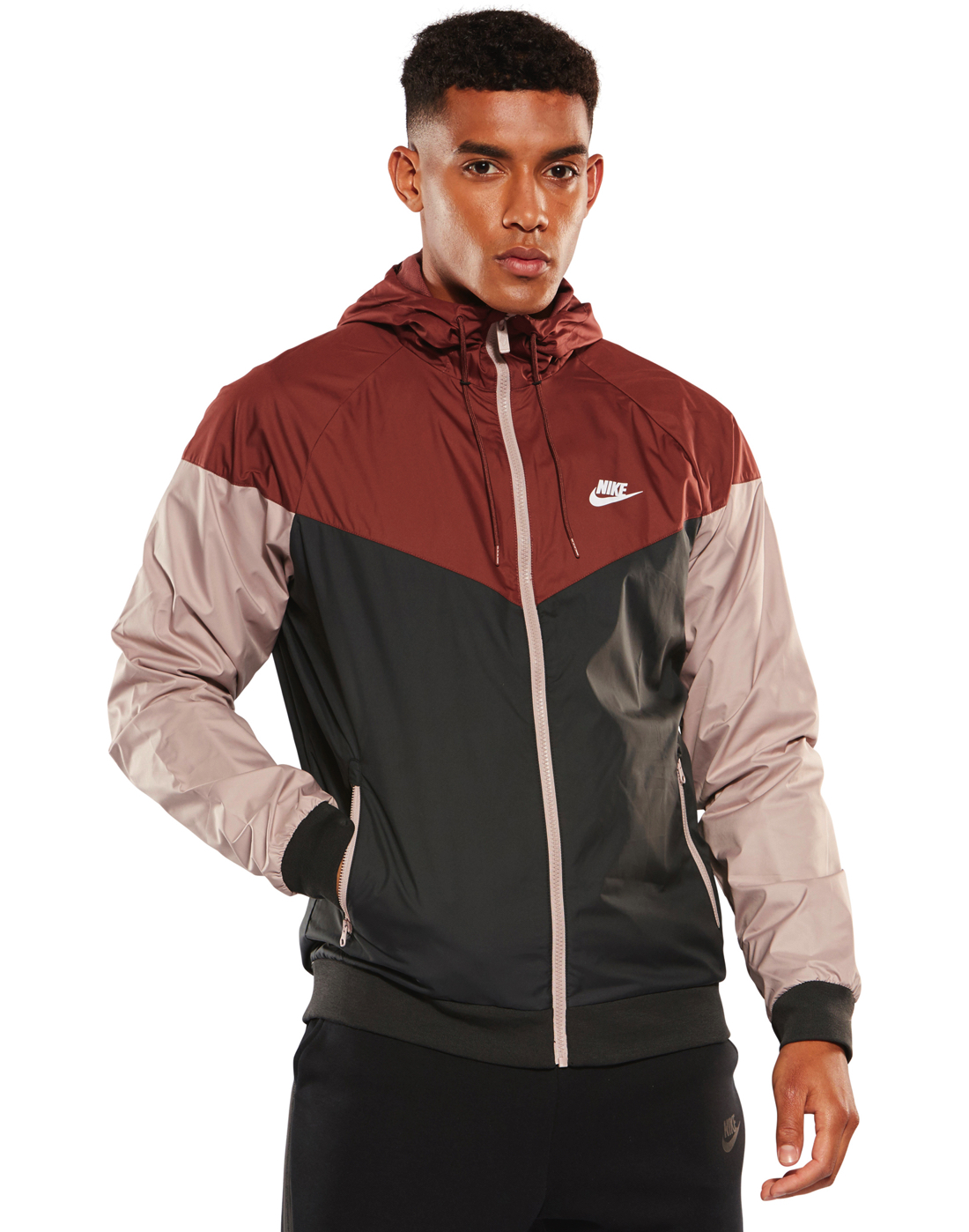 601ce9ddd1 Men s Black   Burgundy Nike Windrunner Jacket