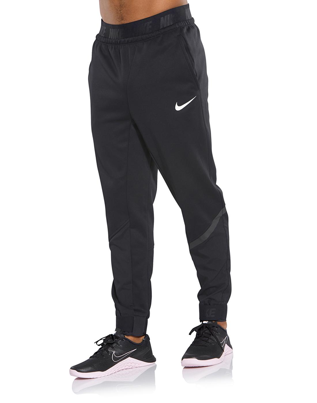 fff1c6e0cf2c Men s Black Nike Therma Gym Track Bottoms