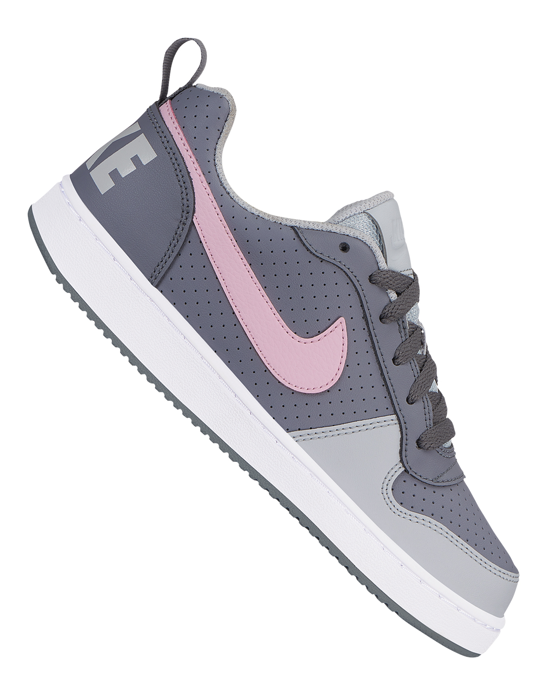 4f02a9af1a Girl's Grey & Pink Nike Court Borough Low | Life Style Sports