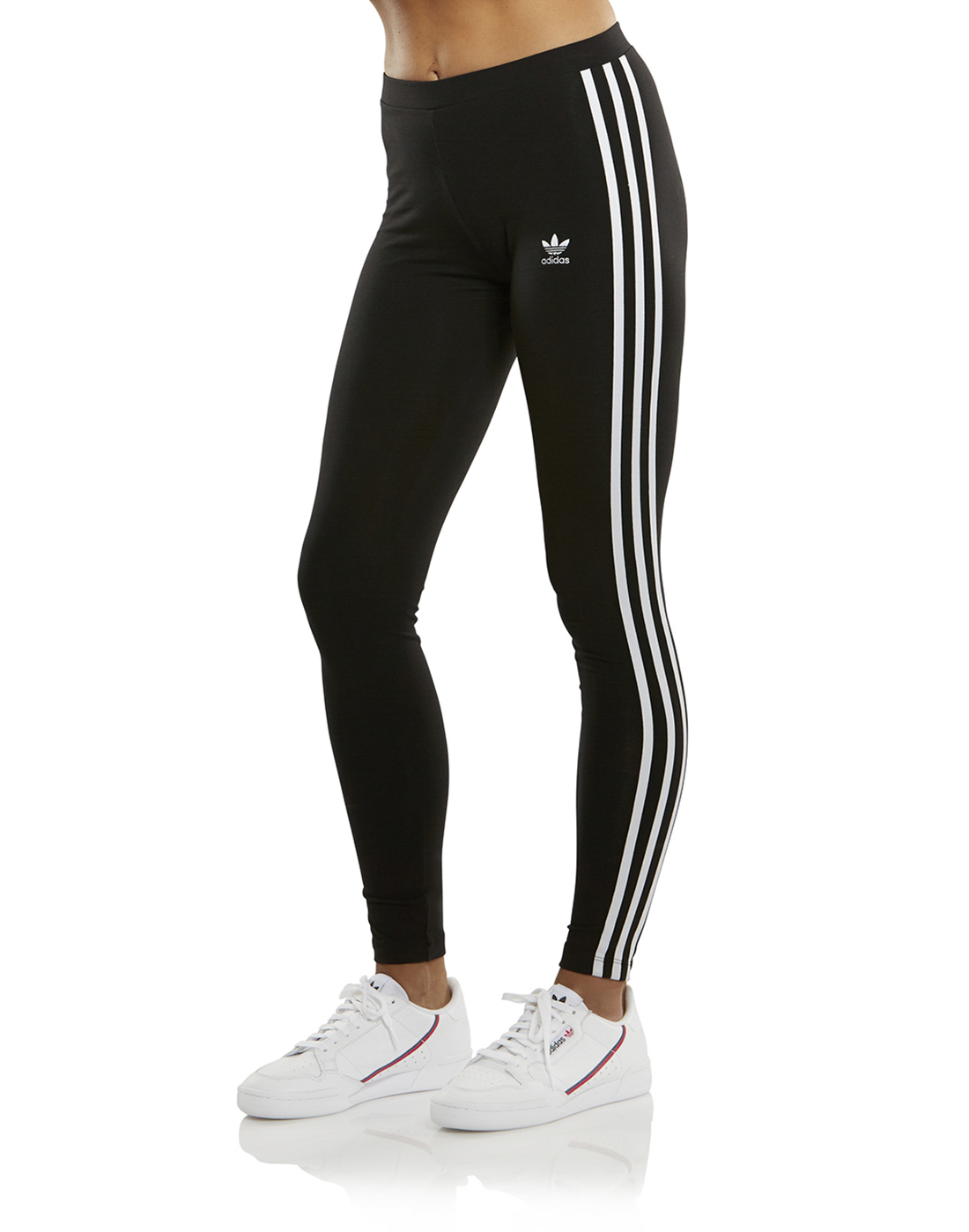 40a9e432b Women's adidas Originals 3 Stripe Legging | Black | Life Style Sports