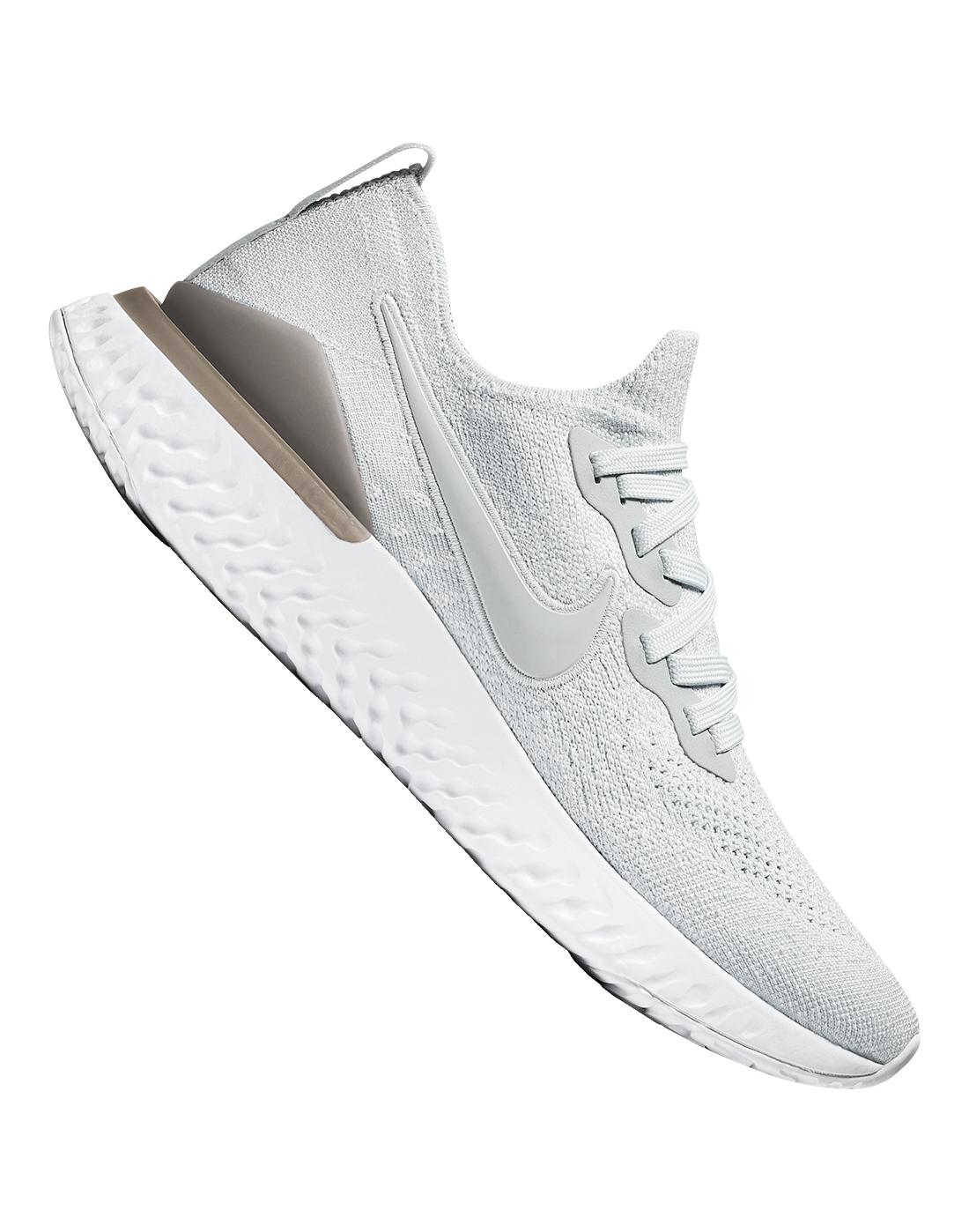 Women's Grey Nike Epic React Flyknit 2