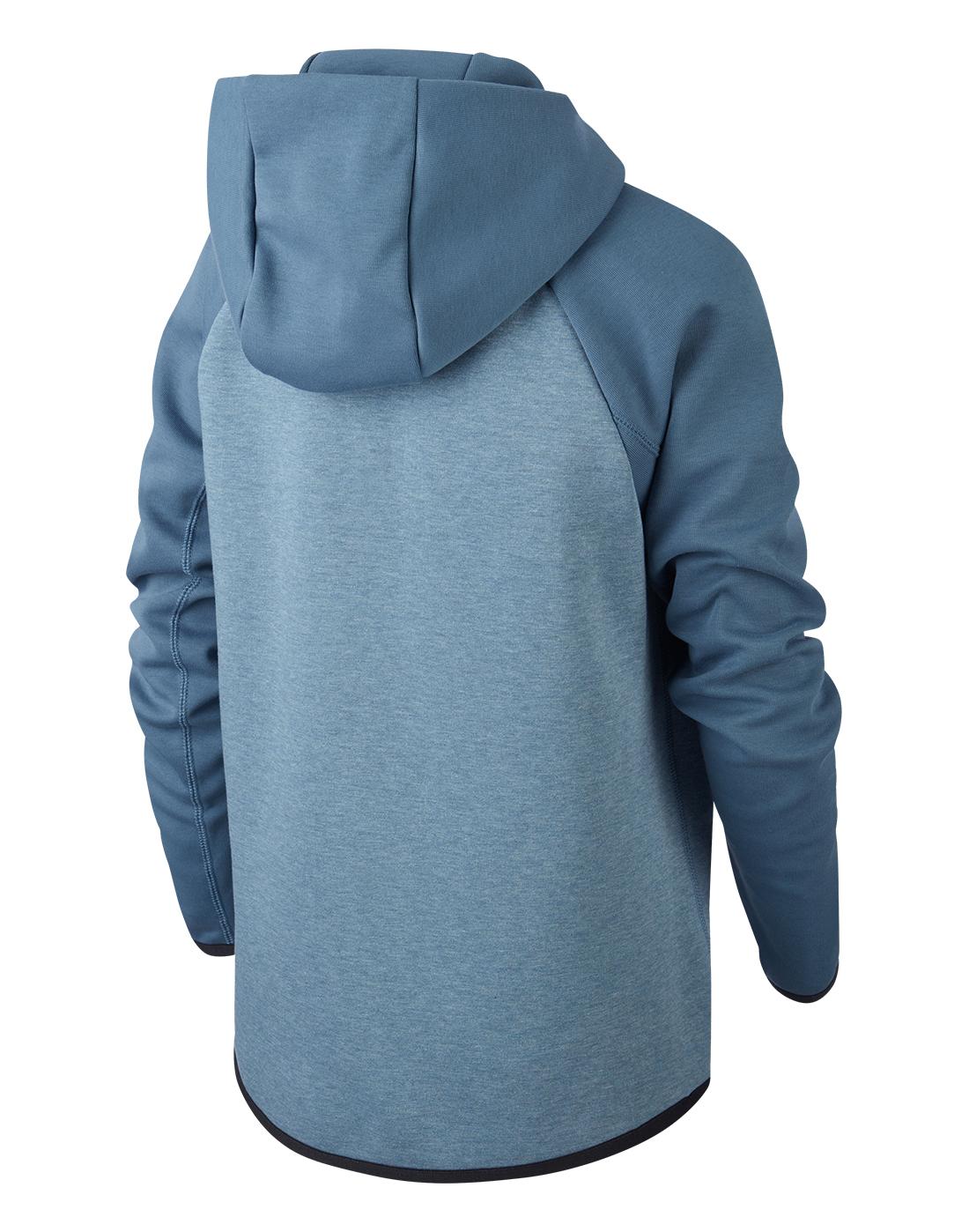 Boy S Blue Nike Tech Fleece Hoodie Life Style Sports