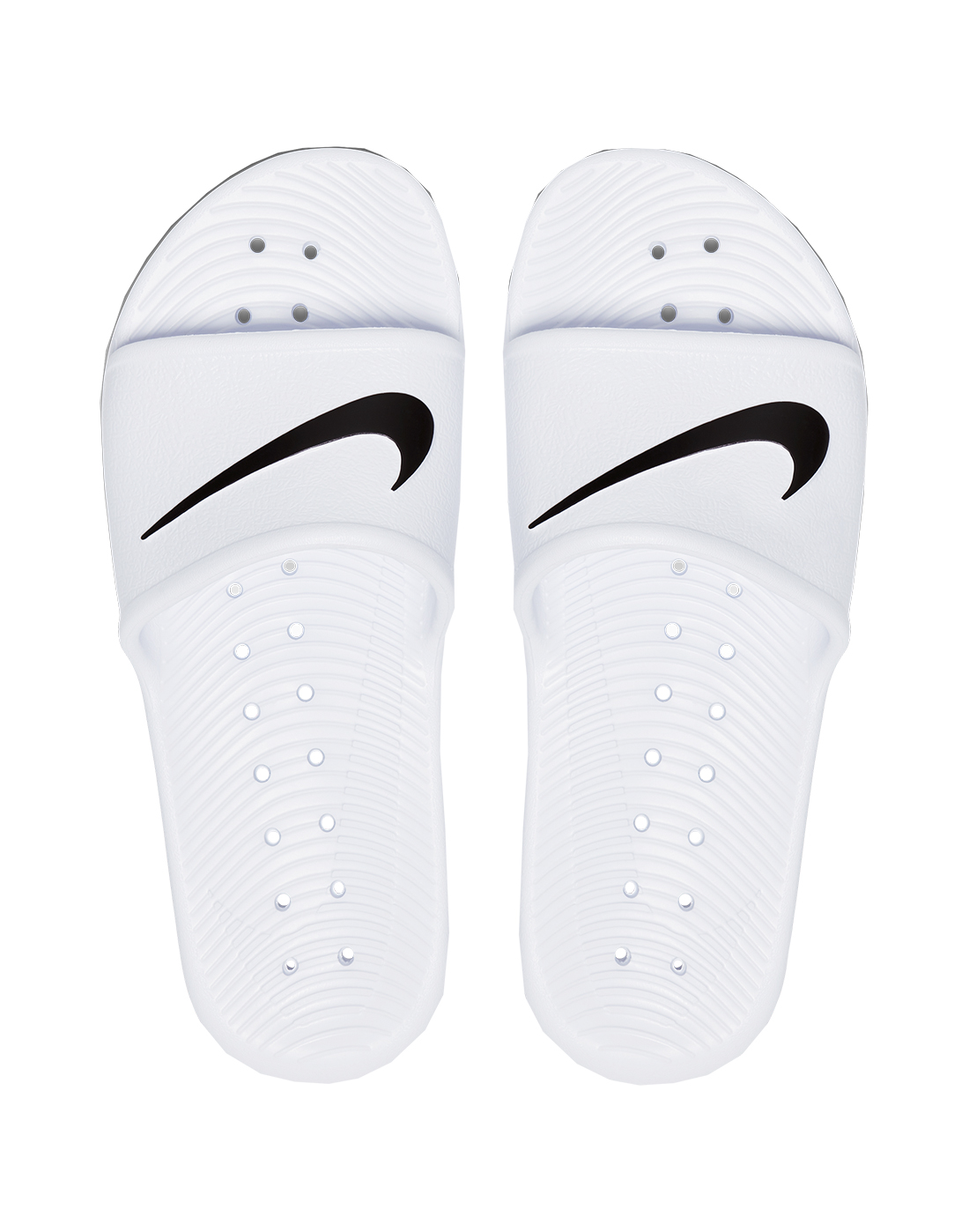 767a9b803521 Women s White   Black Nike Slides