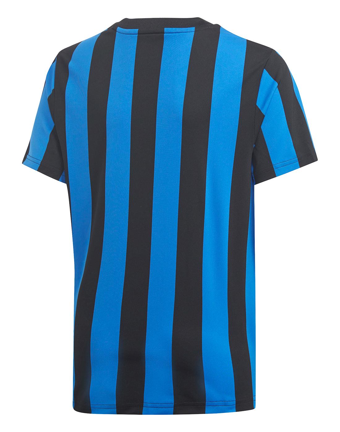 1b92f88c132e Boy s Black   Blue Striped adidas Originals T-Shirt