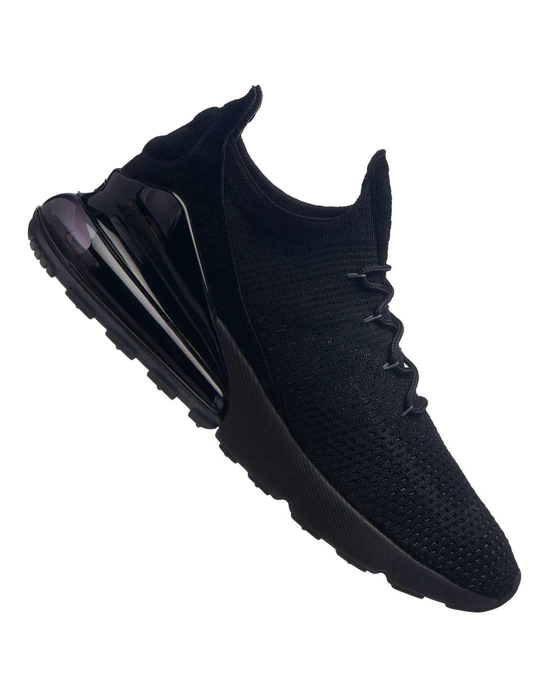 133654f3178f7 Men's Triple Black Nike Air Max 270 Flyknit | Life Style Sports