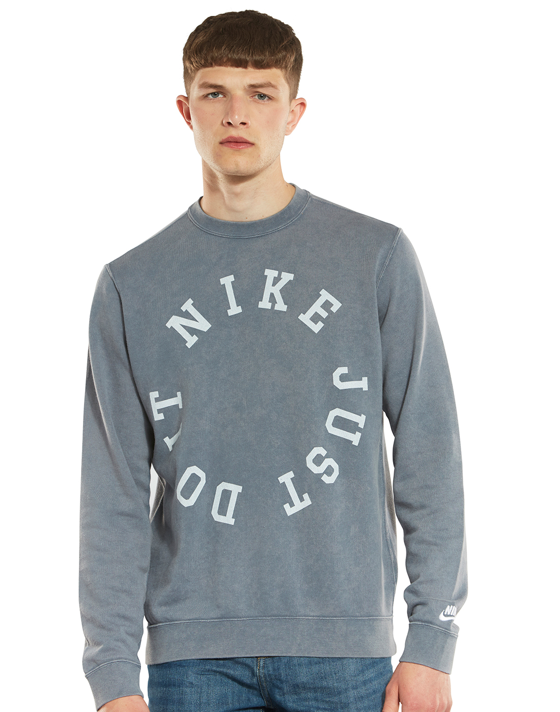 37f1d417a Men's Grey Nike Just Do It Washed Sweatshirt | Life Style Sports