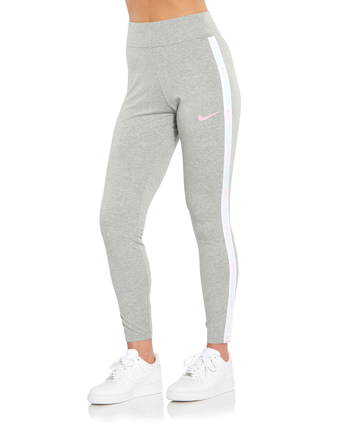 ba4db458bc66f Women's Grey & Pink Nike Leggings | Life Style Sports