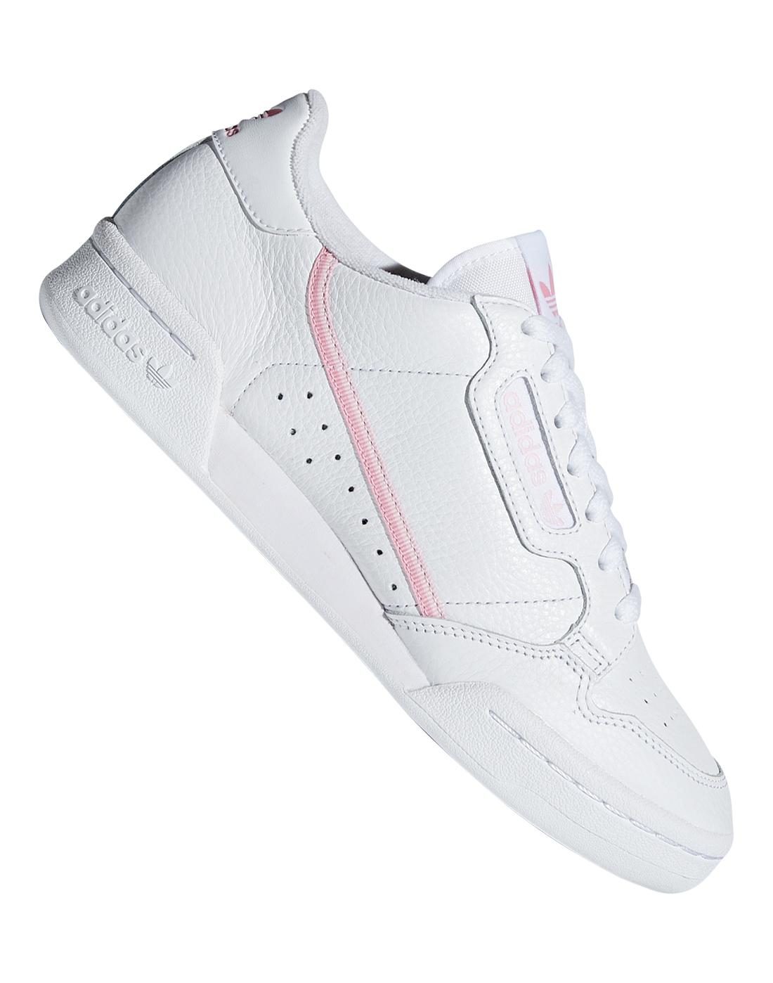 fda14a1750ec9e Women s Pink   White adidas Originals Continental 80