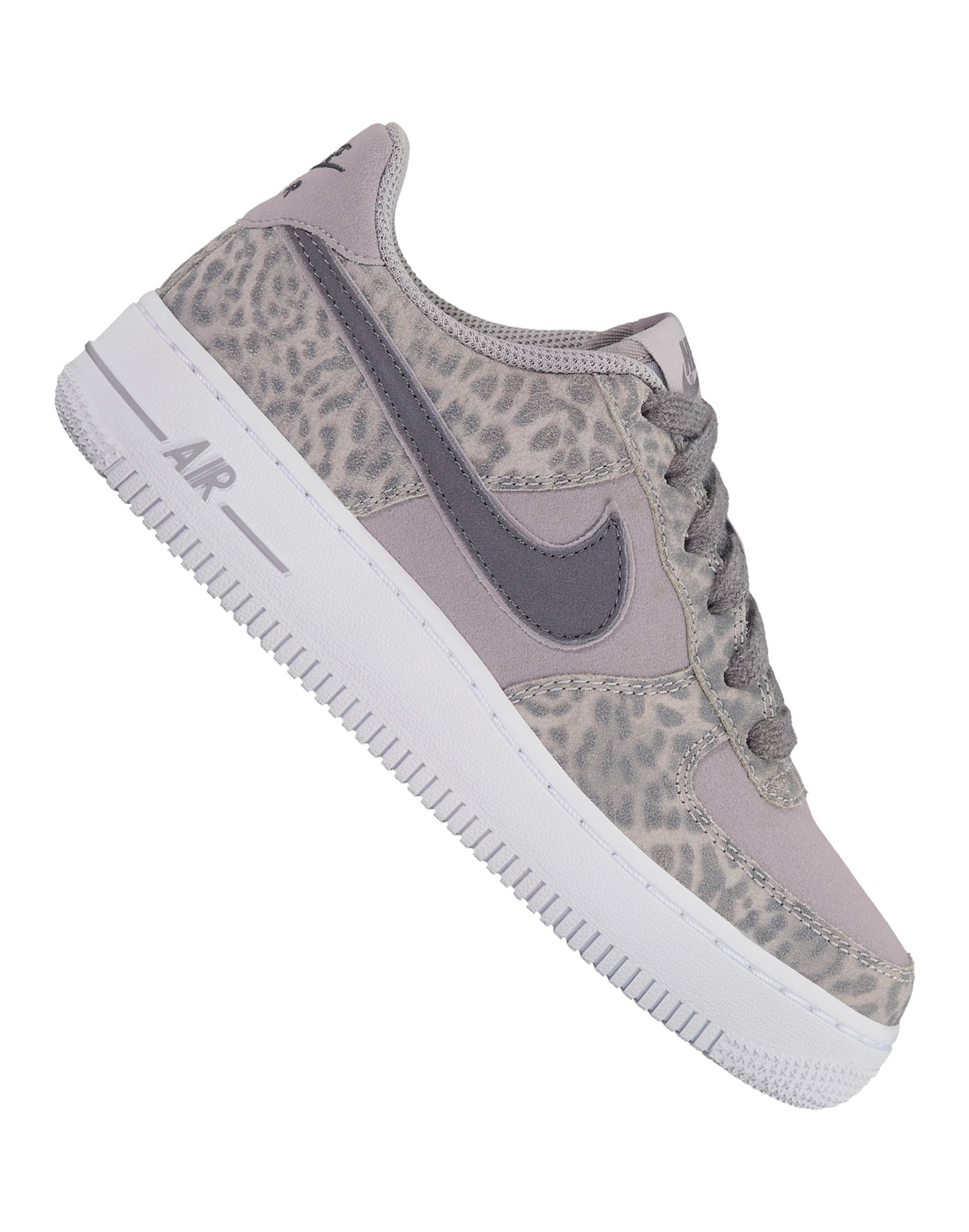 efaf53a425 Girls Nike Air Force 1 | Grey | Life Style Sports