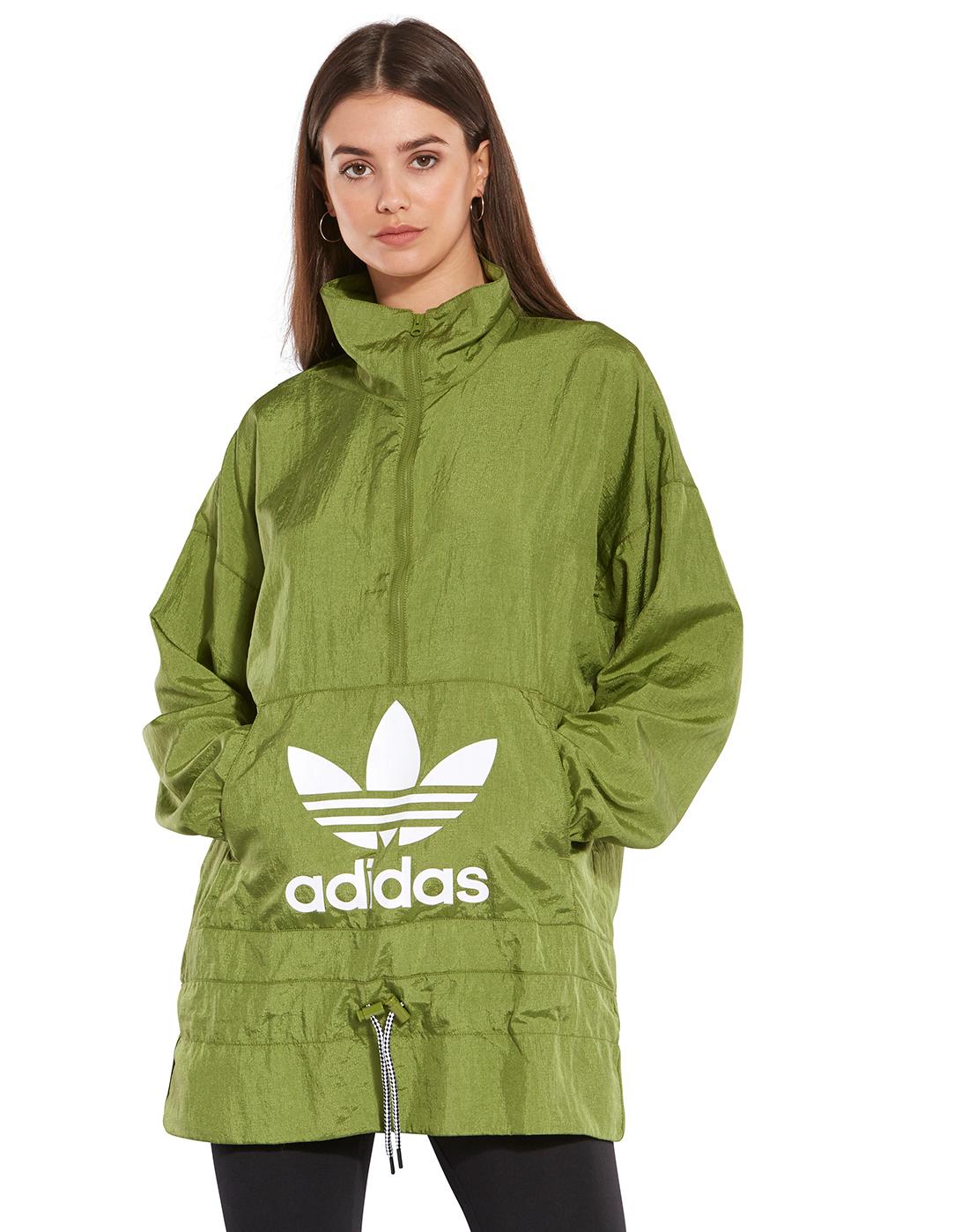 Desagradable Buscar a tientas Galantería  adidas Originals Womens Windbreaker Jacket - Green   Life Style Sports IE