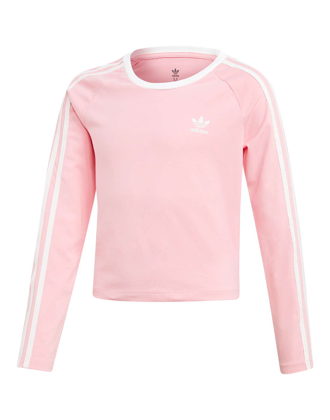 a6dbc182d8a1 Girl's Pink adidas Originals Cropped T-Shirt | Life Style Sports