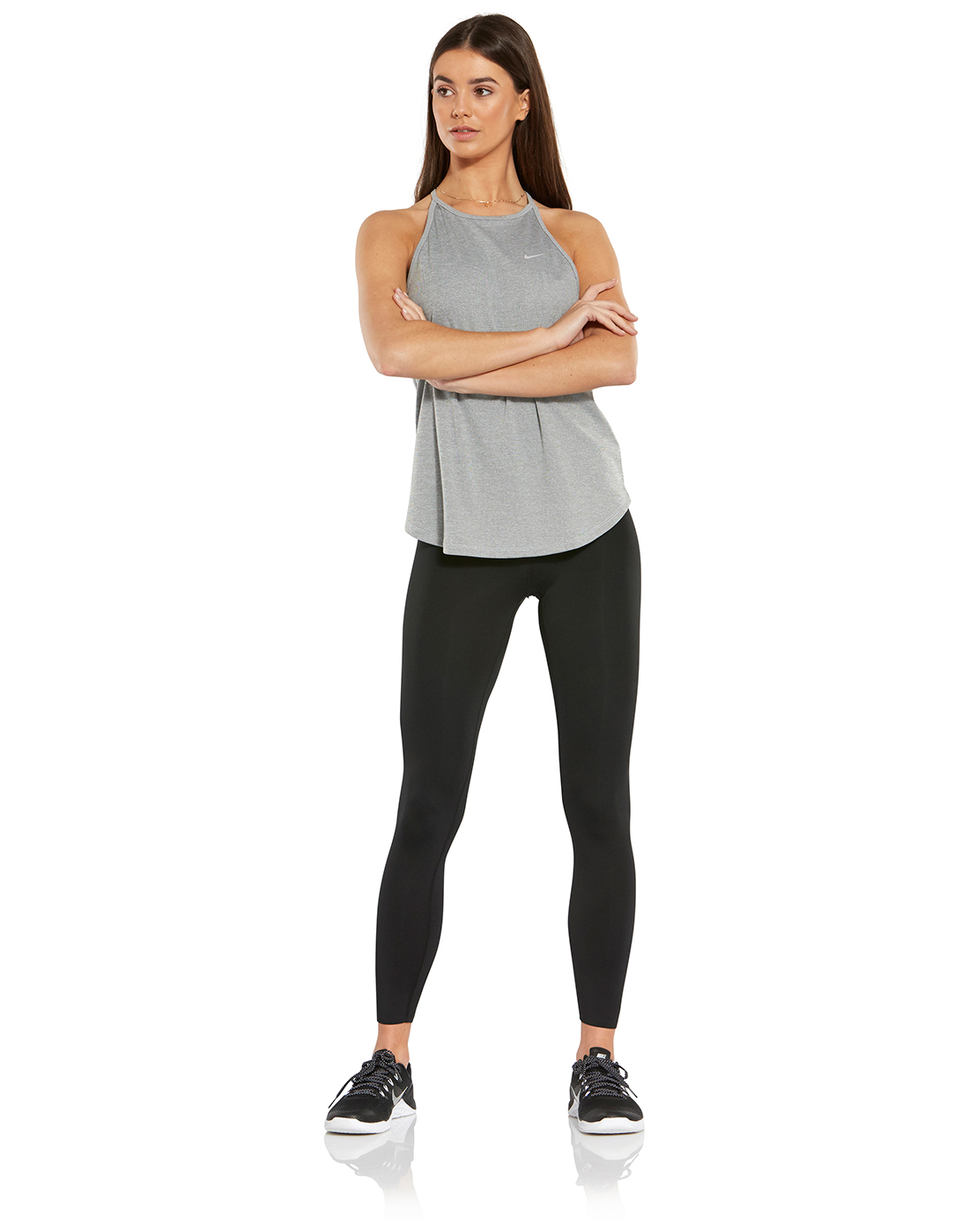 206bf0c7f8f90 Women's Black Nike Lux Crop Tights | Life Style Sports