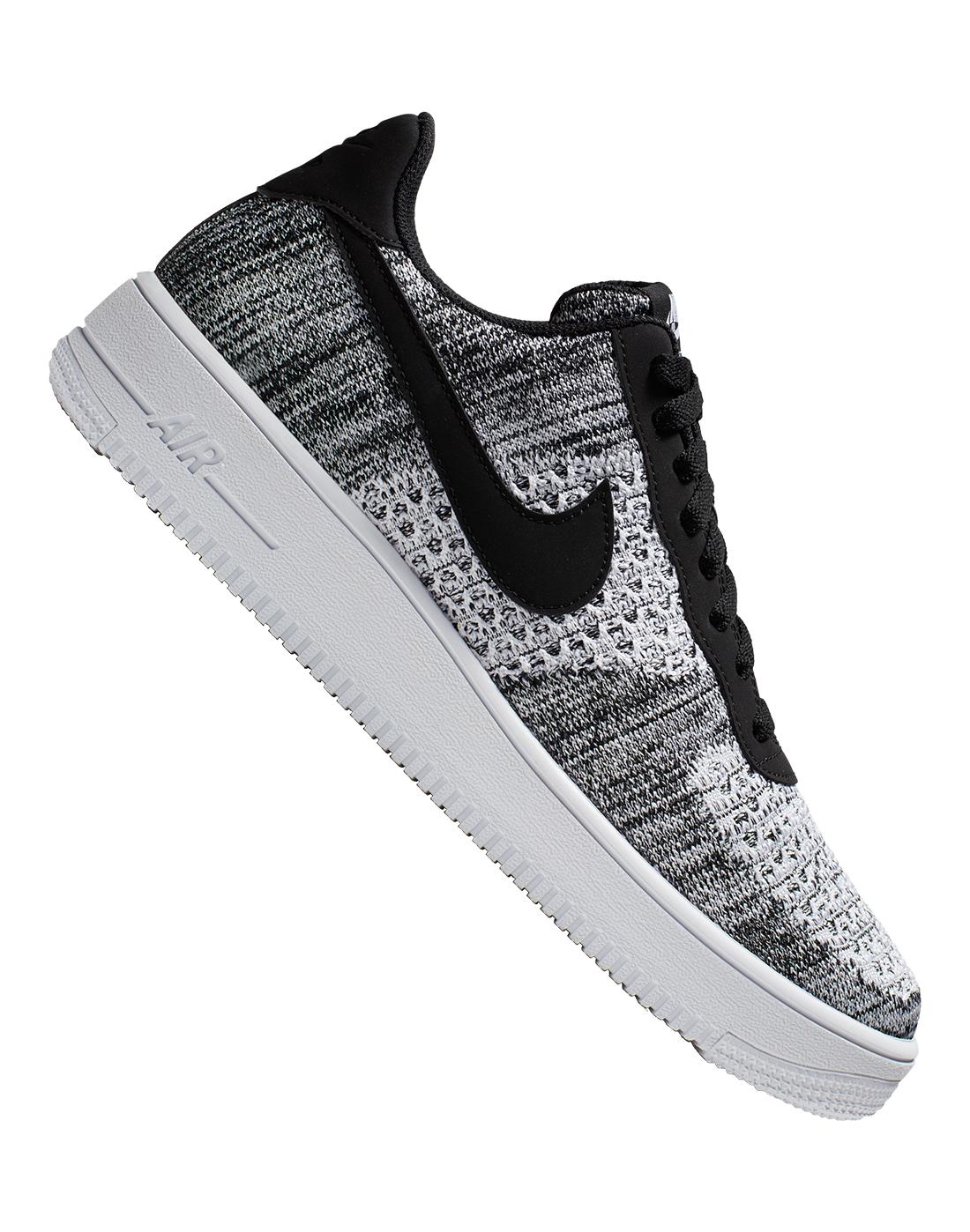 Black \u0026 White Nike Air Force 1 Flyknit