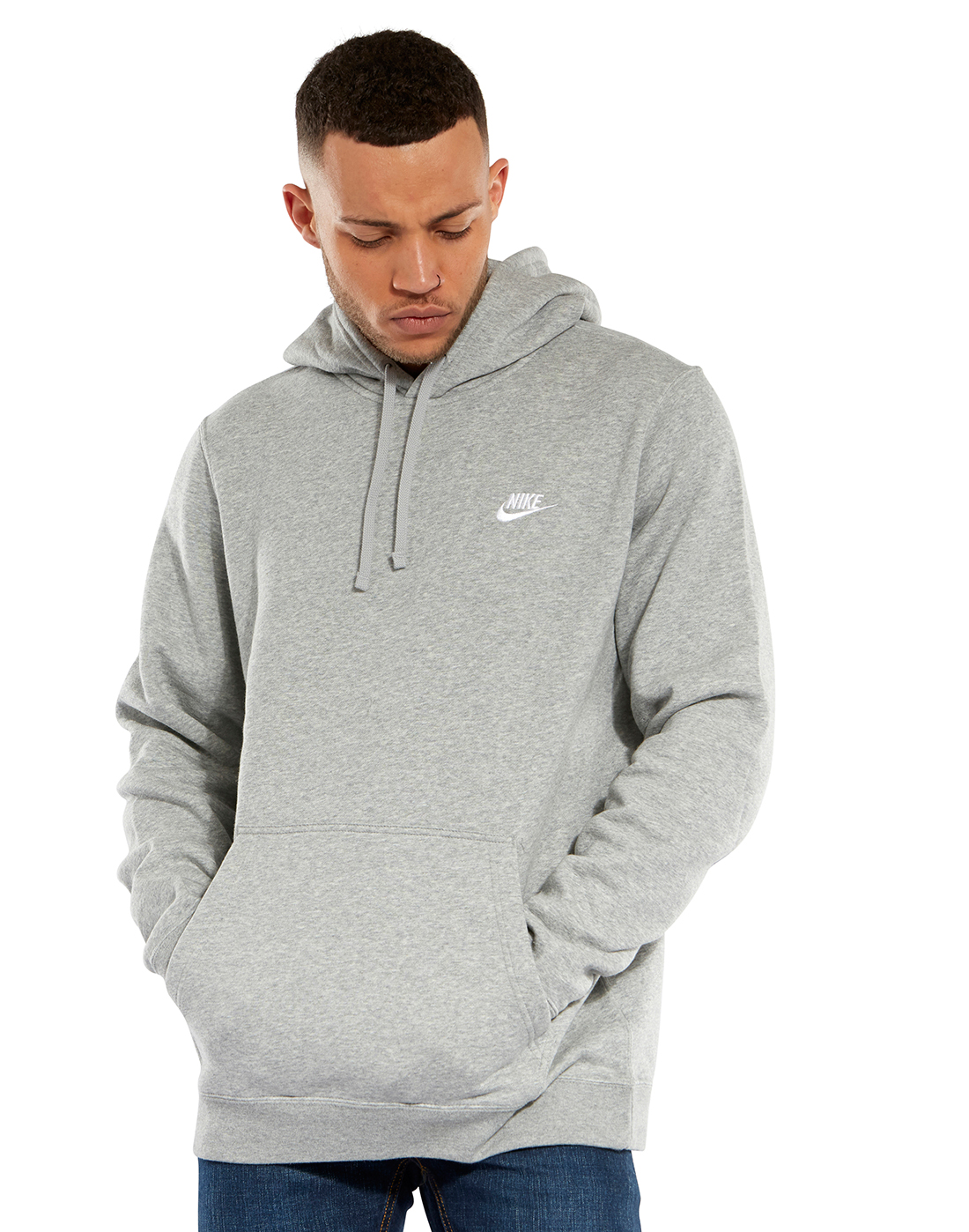 ab755a08f Men's Grey Nike Pullover Hoodie | Life Style Sports