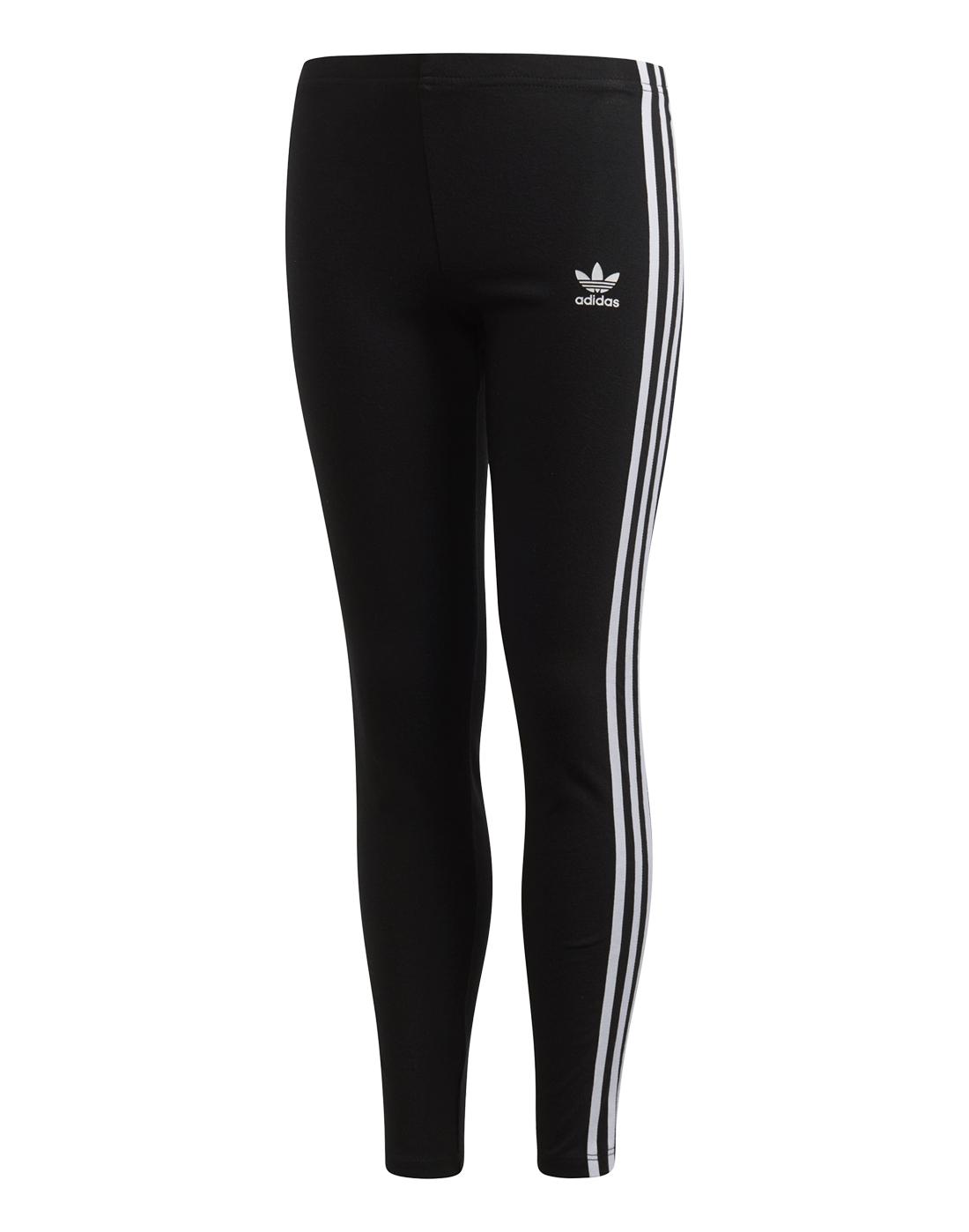 6a5139f45 Older Girls adidas Originals 3-Stripe Leggings | Black | Life Style ...