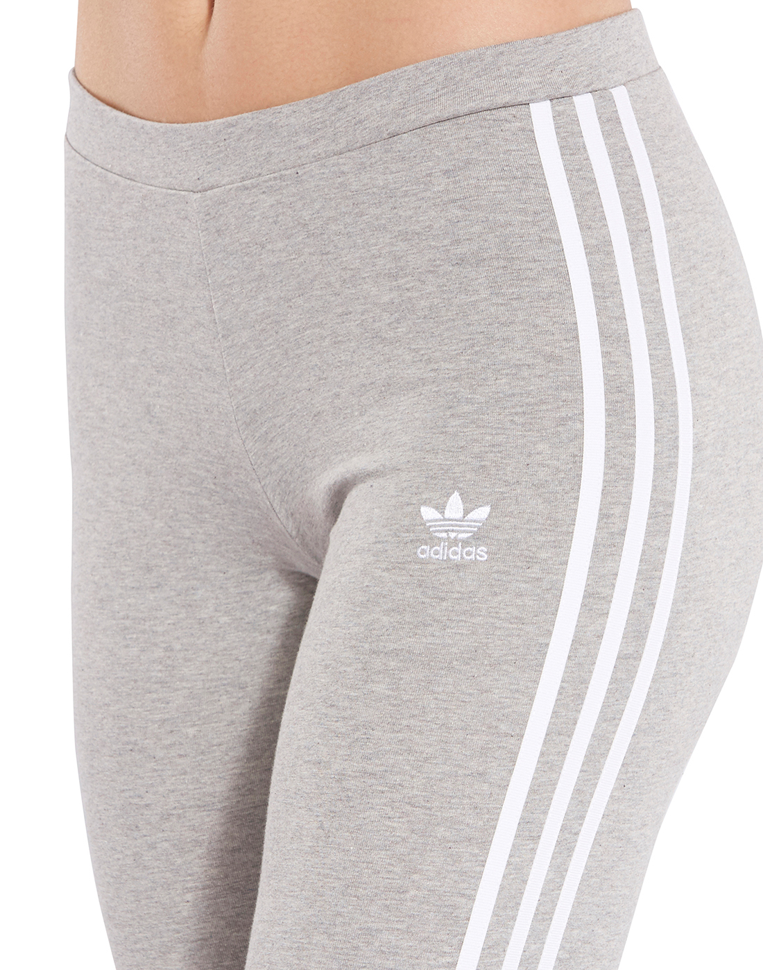 3ddfd516e Women's Grey adidas Originals 3 Stripe Leggings | Life Style Sports