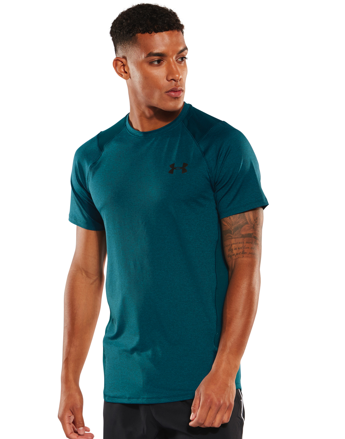 8085002c Men's Blue Under Armour MK1 T-Shirt | Life Style Sports