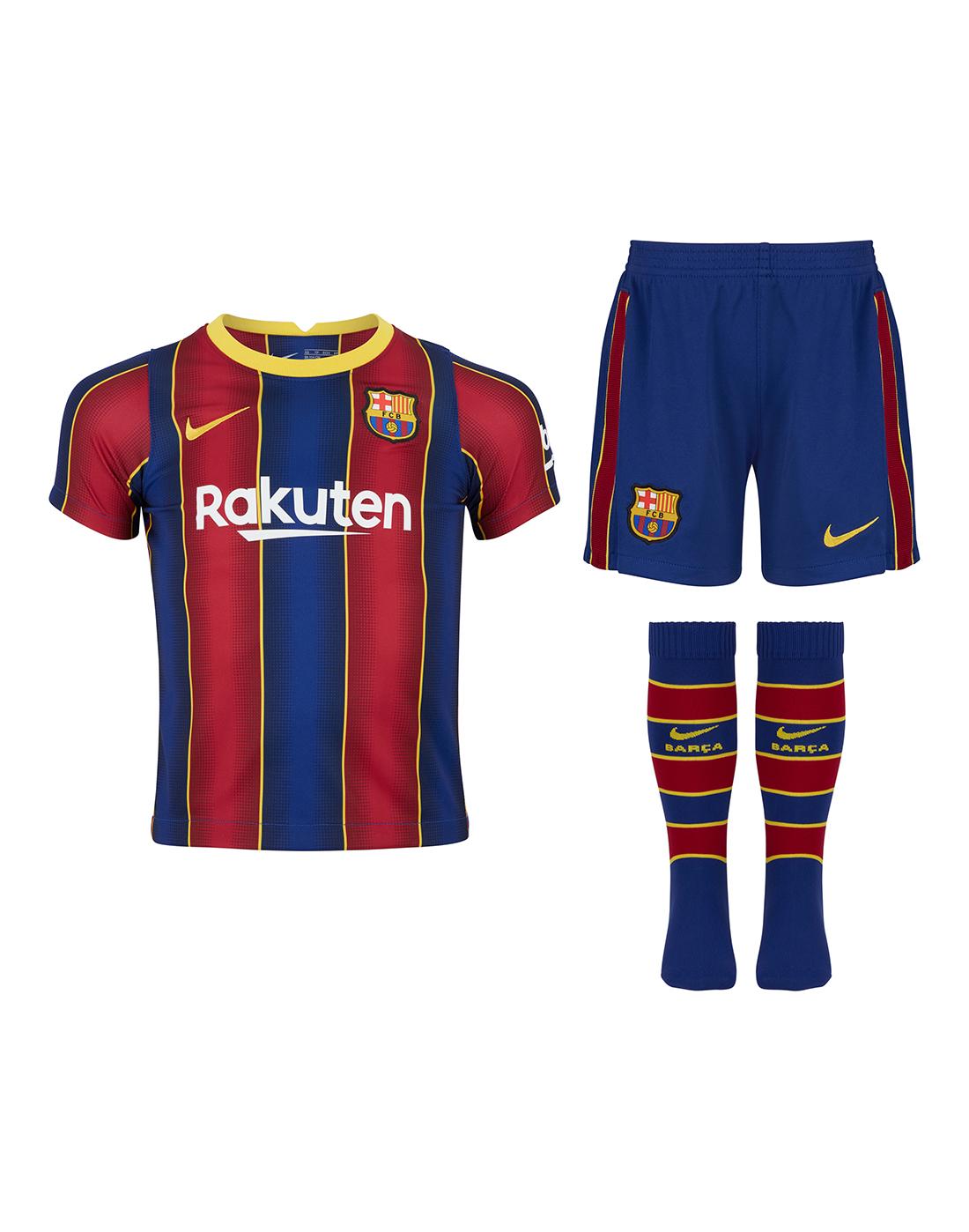 Nike Kids Barcelona 20 21 Home Kit Blue Life Style Sports Eu