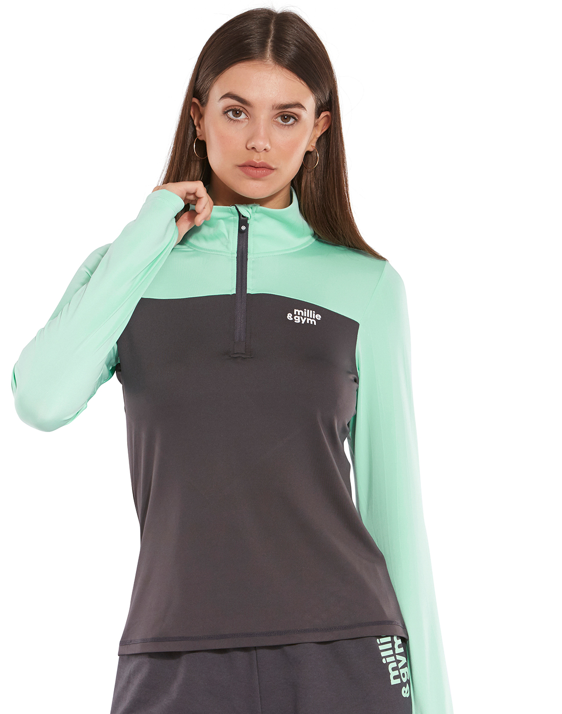 cfe43291d Mint Green Millie & Gym Half Zip Top | Life Style Sports