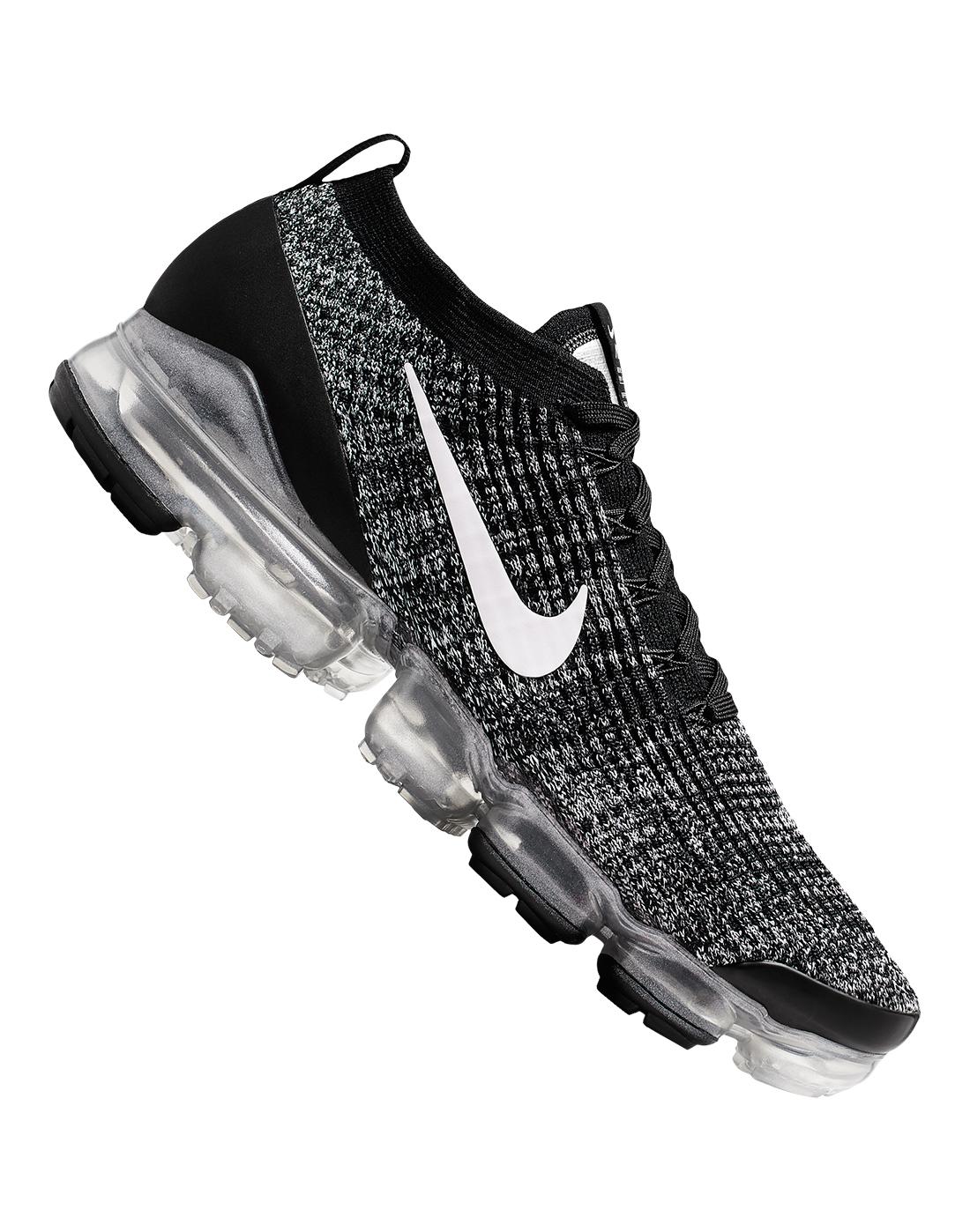 Men S Black White Nike Vapormax Flyknit 3 Life Style Sports