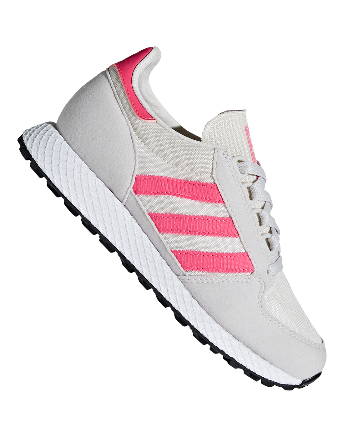 ead57c76f733f1 Girl s Grey   Pink adidas Originals Forest Grove