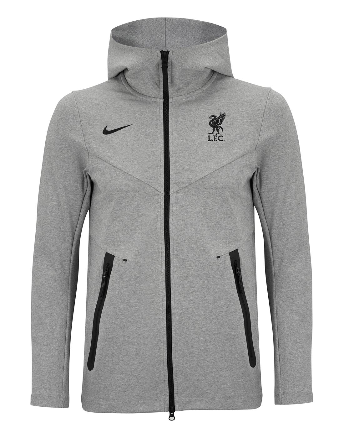 Nike Adult Liverpool 20 21 Tech Fleece Hoodie Grey Life Style Sports Ie