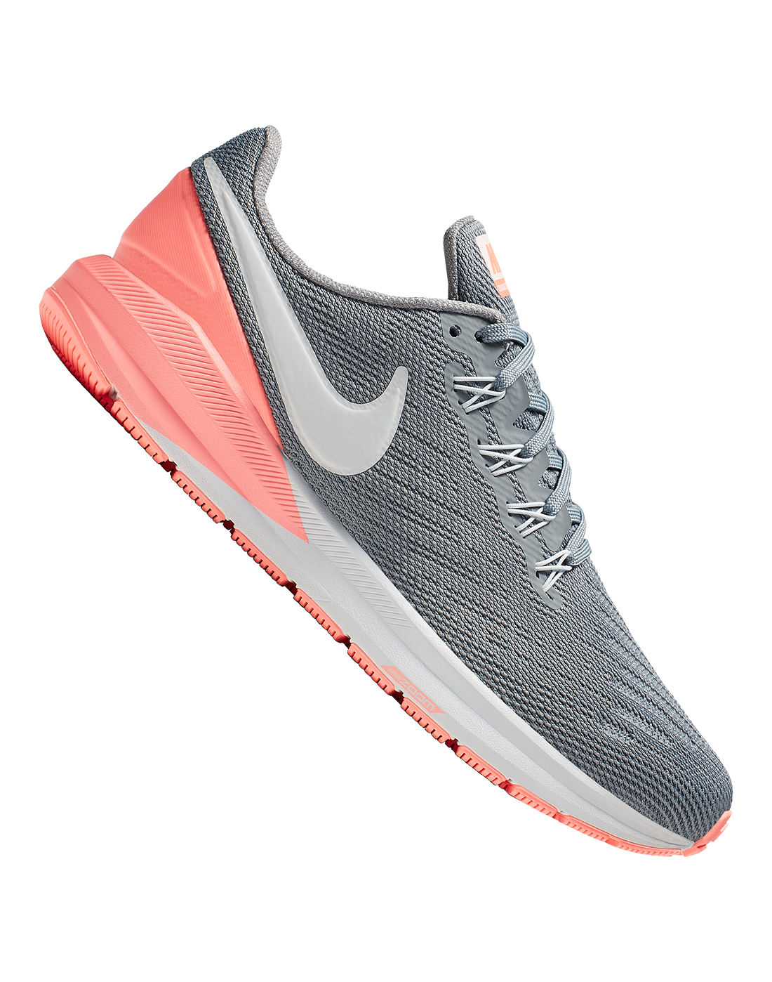 1abe95666110 Women s Grey   Peach Nike Air Zoom Structure 22