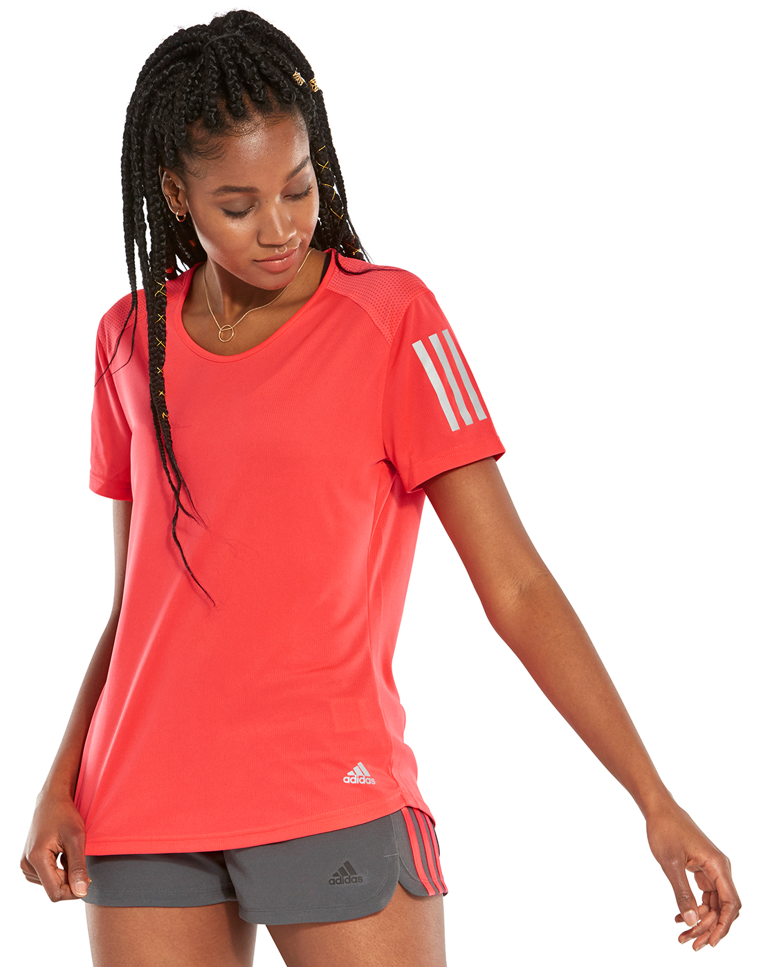 9ccf9a497 Women's Red adidas Gym T-Shirt | Life Style Sports