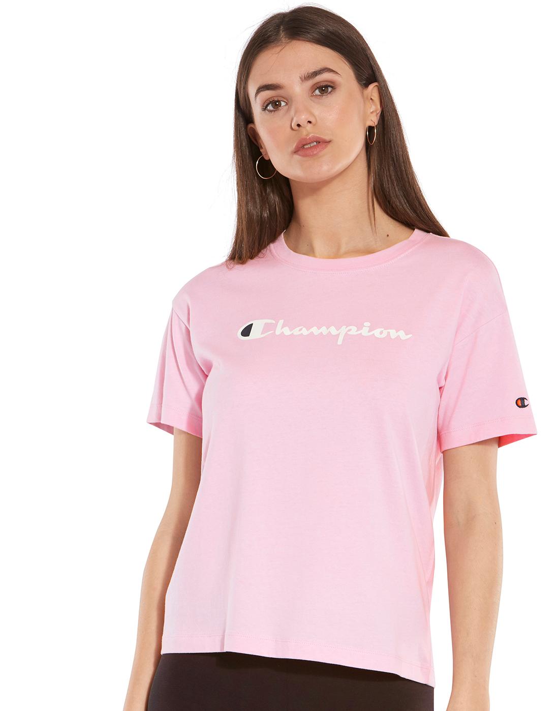 d1587d90 Champion Womens Crewneck T-Shirt   Life Style Sports