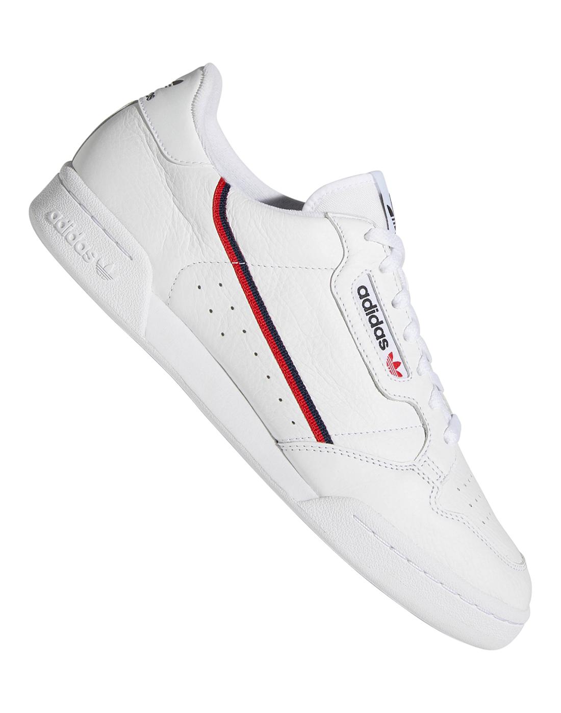 White adidas Originals Continental 80