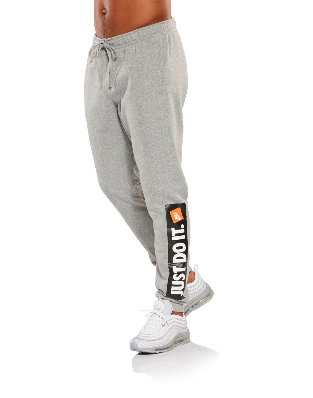 Men's Grey Nike 'Just Do It' Joggers | Life Style Sports