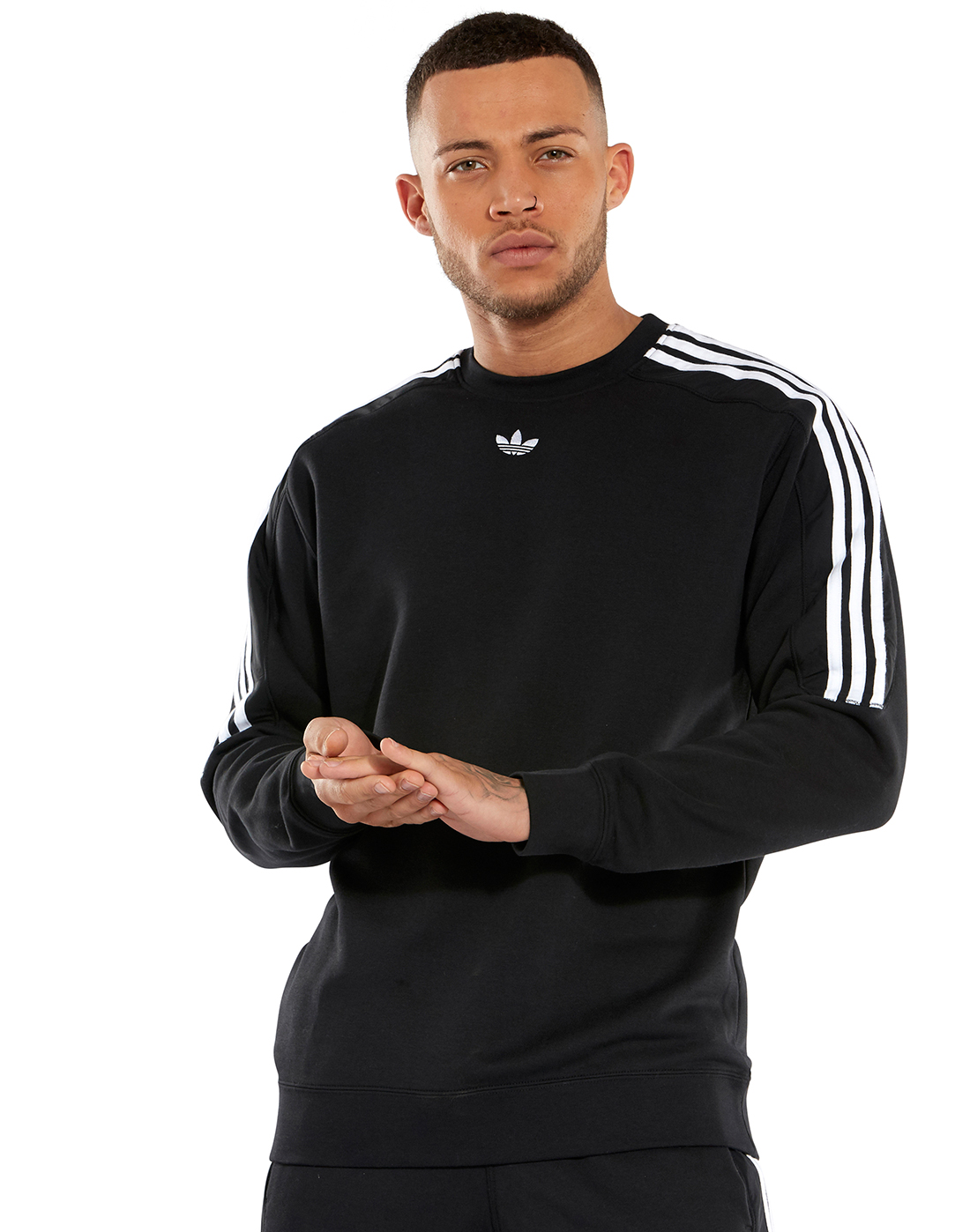 650dde4518b Men's Black adidas Originals Radkin Sweatshirt | Life Style Sports