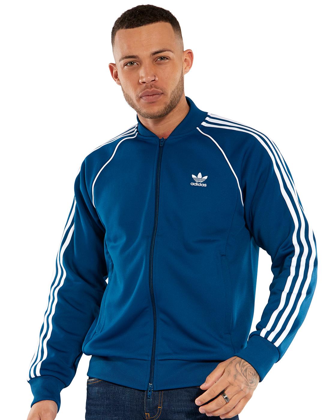 422f42841a71 Men s Navy adidas Originals Superstar Track Top