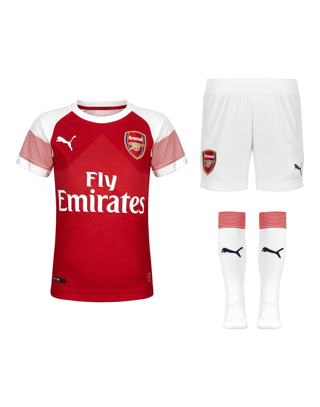 1d598b560 Kids Arsenal Home 18 19 Kit ...