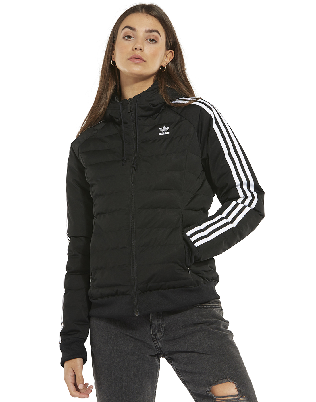 fa97ce17 Women's Black adidas Originals Slim Padded Jacket | Life Style Sports