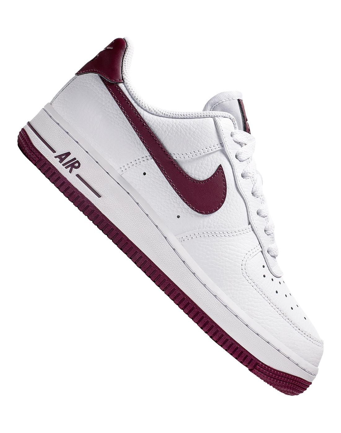 White \u0026 Burgundy Nike Air Force 1