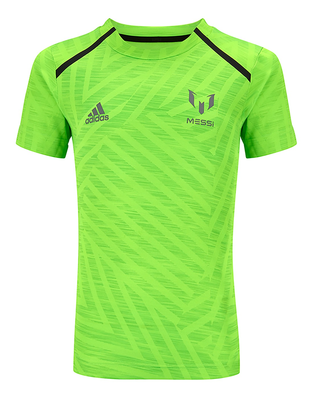 400d3806b Boy's Green adidas Messi Icon T-Shirt   Life Style Sports