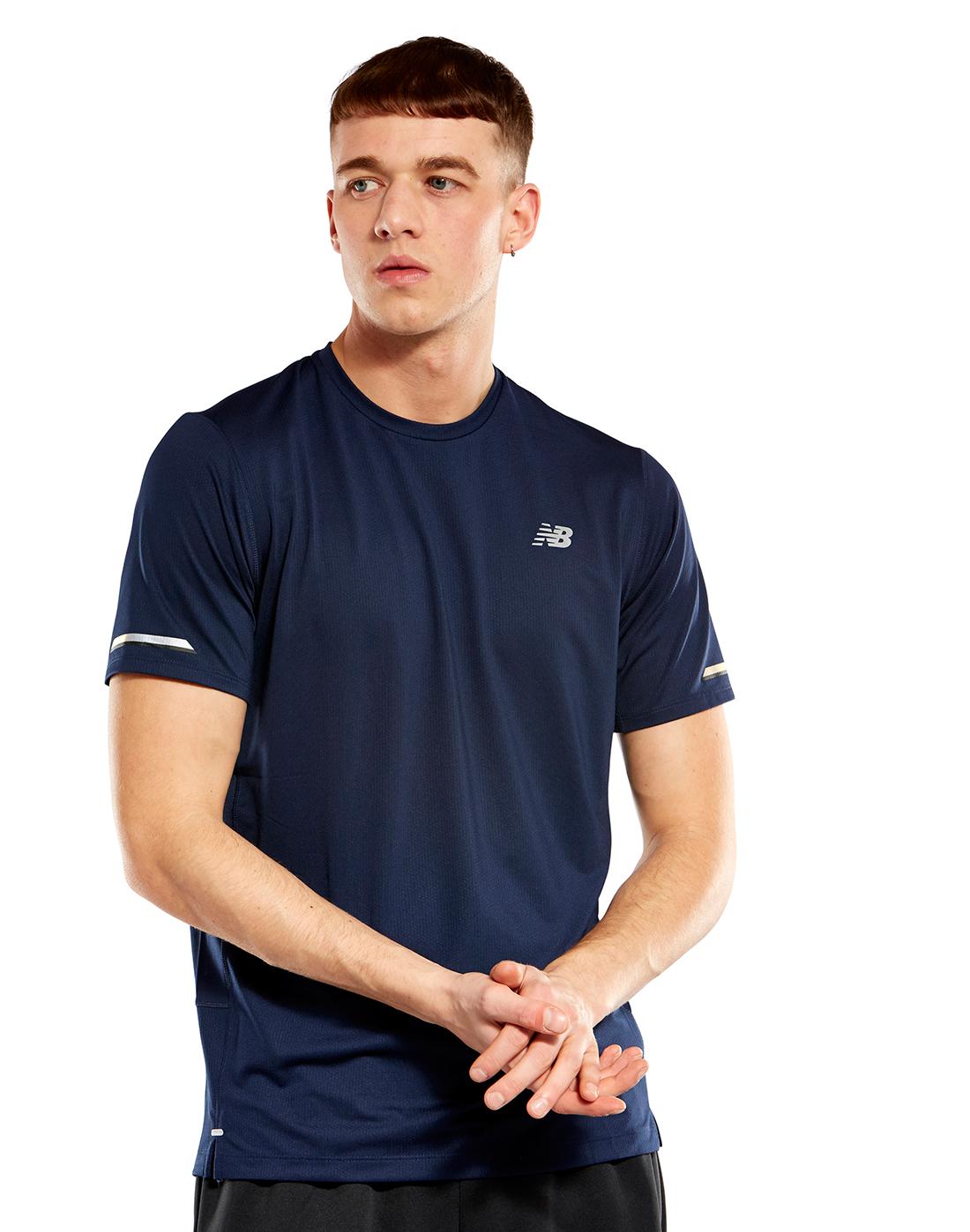 91be5ee54b1d6 Men's Navy New Balance T-Shirt   Life Style Sports